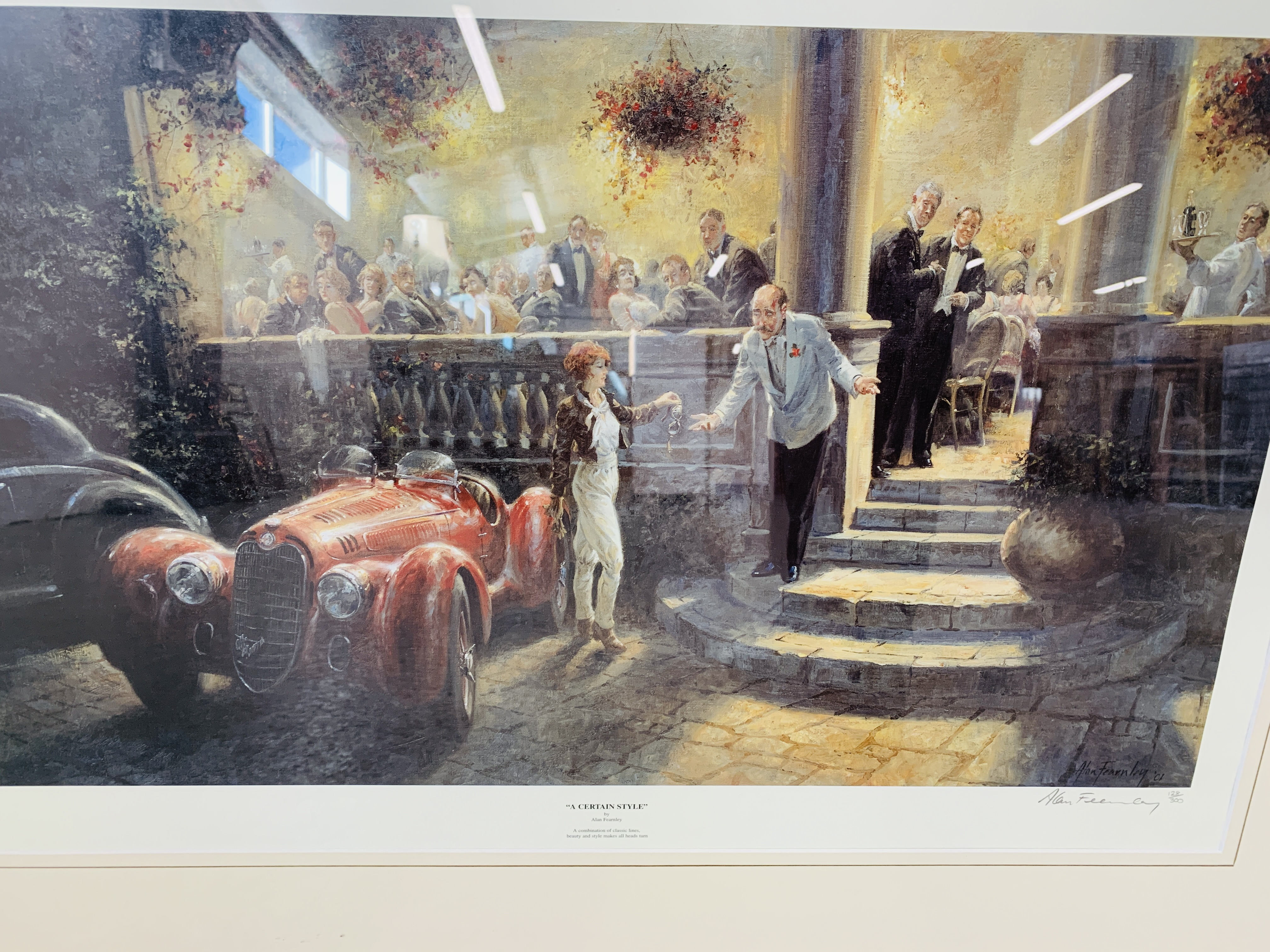 """A FRAMED AND MOUNTED ALAN FEARNLEY LTD EDITION PRINT """"A CERTAIN STYLE"""" 128/300 35. - Image 5 of 5"""