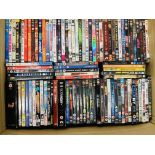 A LARGE COLLECTION OF MIXED DVD'S IN 2 BOXES
