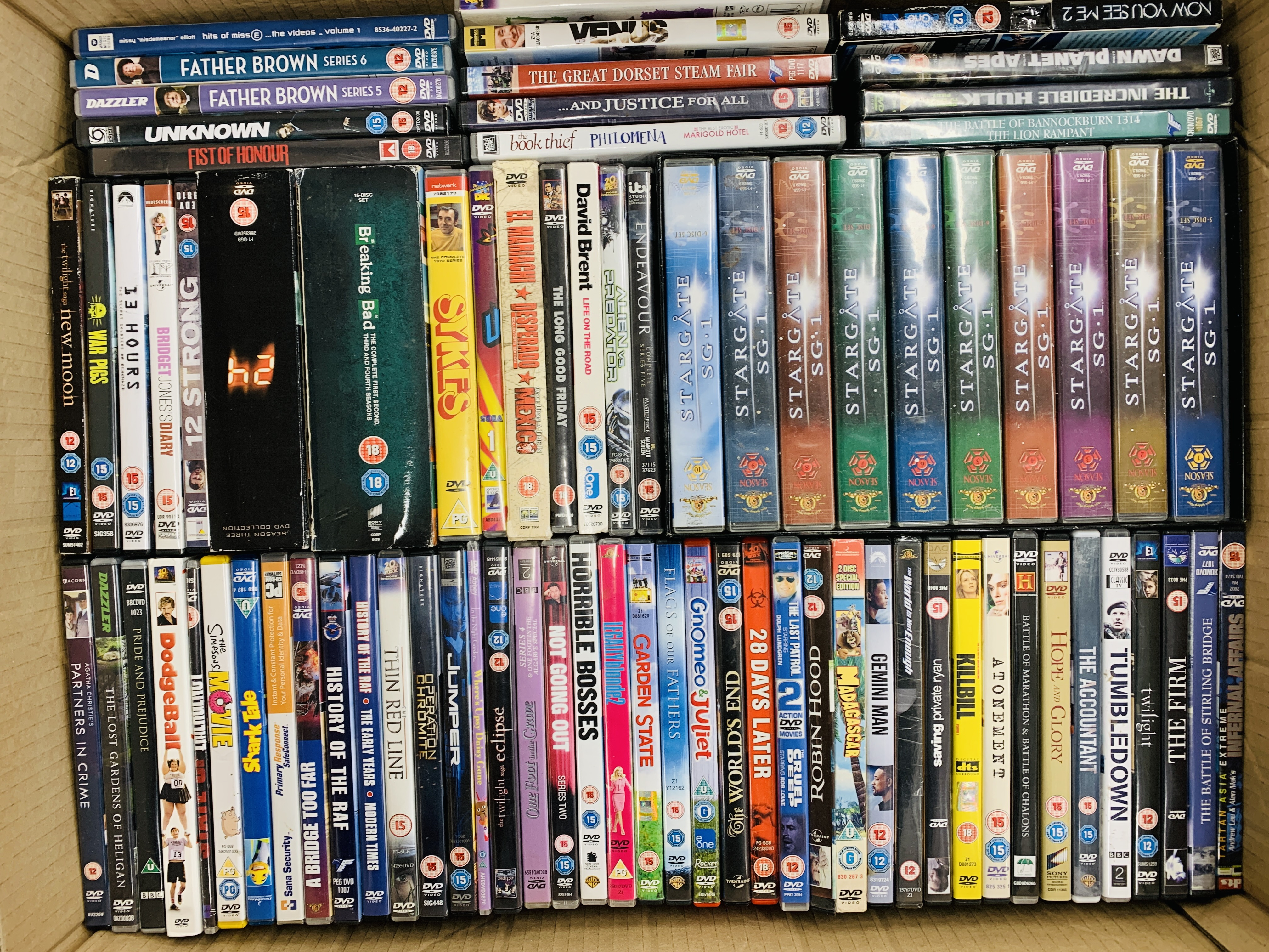 A LARGE COLLECTION OF MIXED DVD'S IN 2 BOXES - Image 2 of 2
