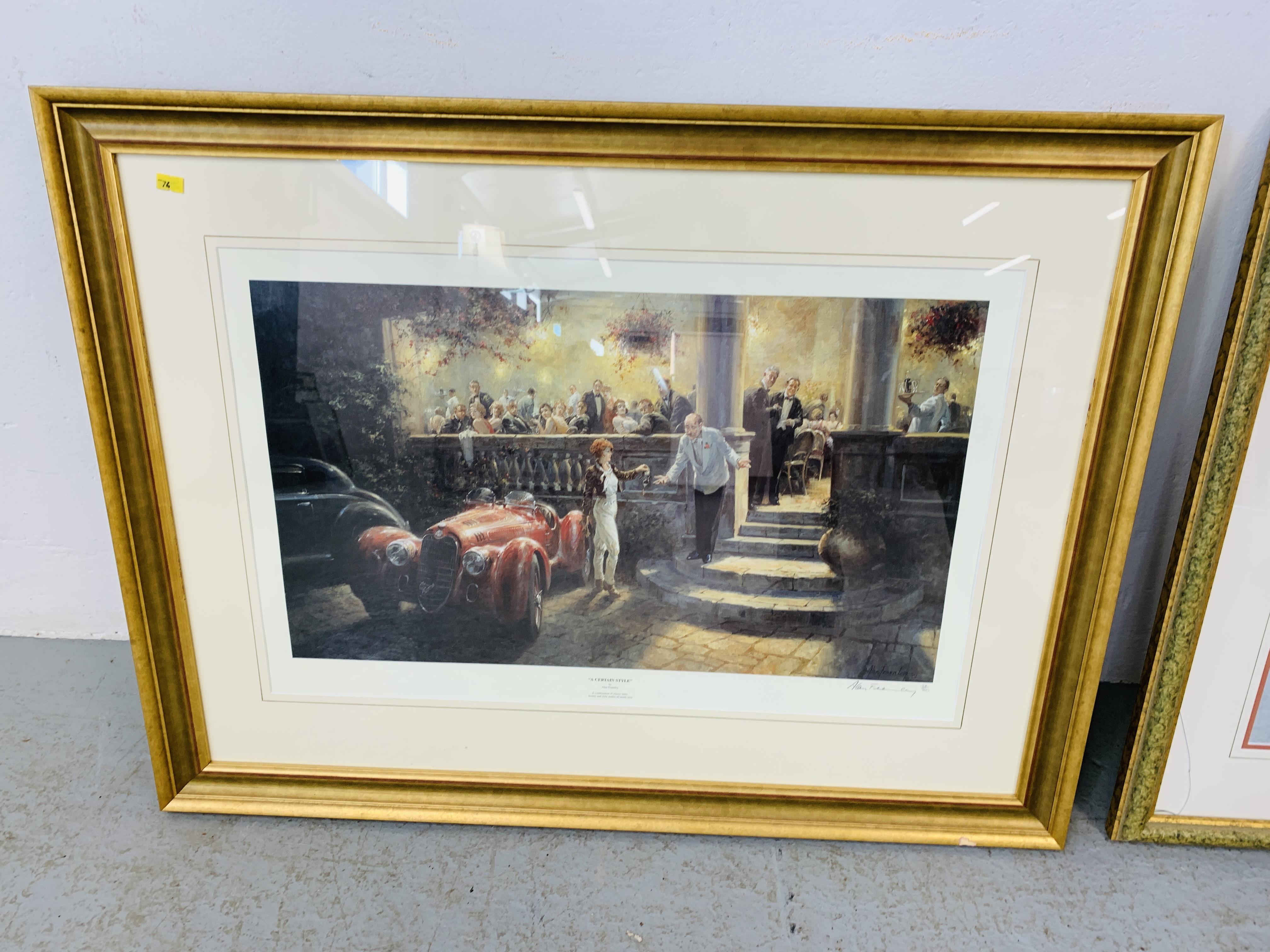 """A FRAMED AND MOUNTED ALAN FEARNLEY LTD EDITION PRINT """"A CERTAIN STYLE"""" 128/300 35. - Image 4 of 5"""