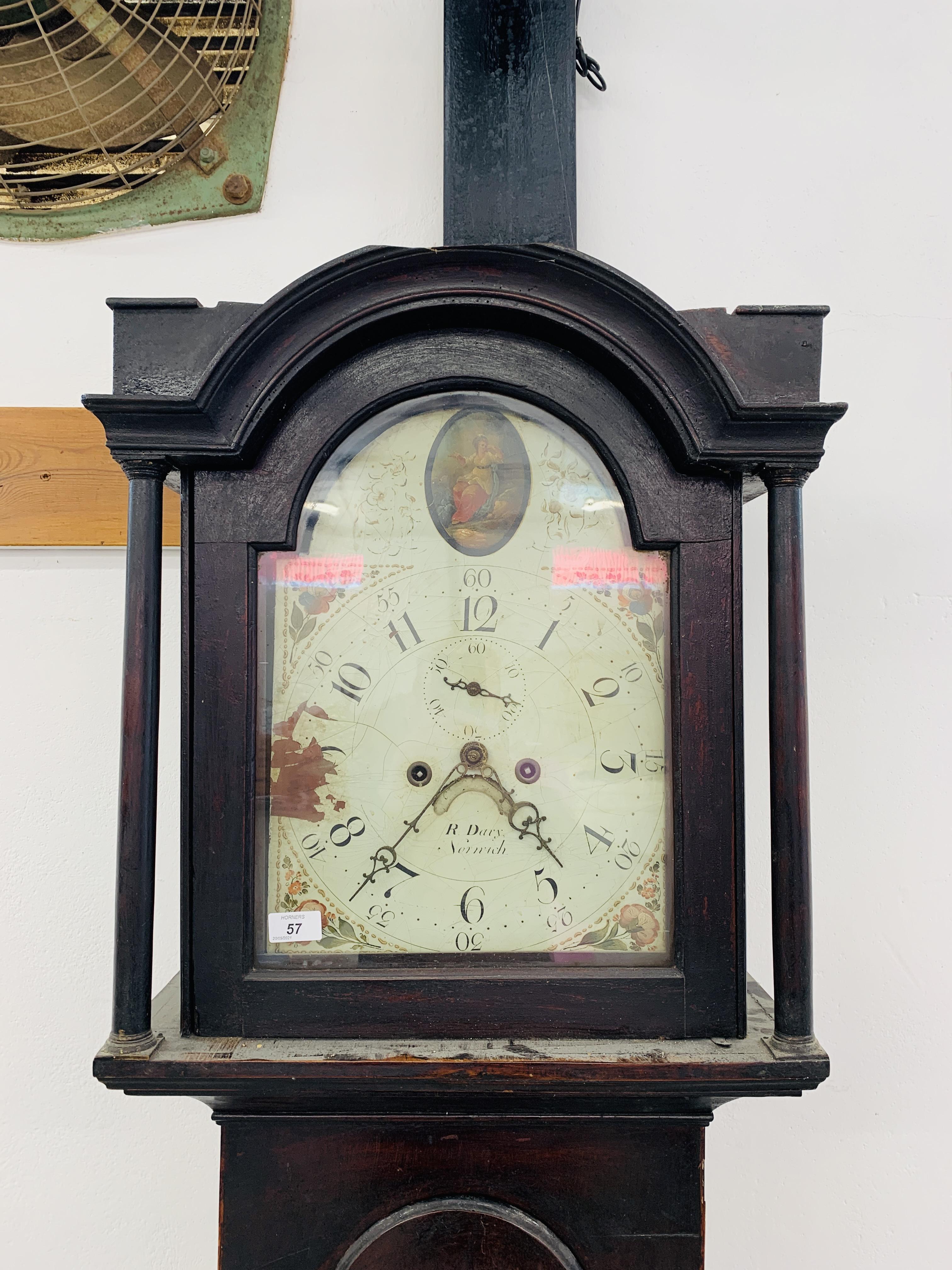 "PERIOD MAHOGANY CASED GRANDFATHER CLOCK ""R. - Image 2 of 10"
