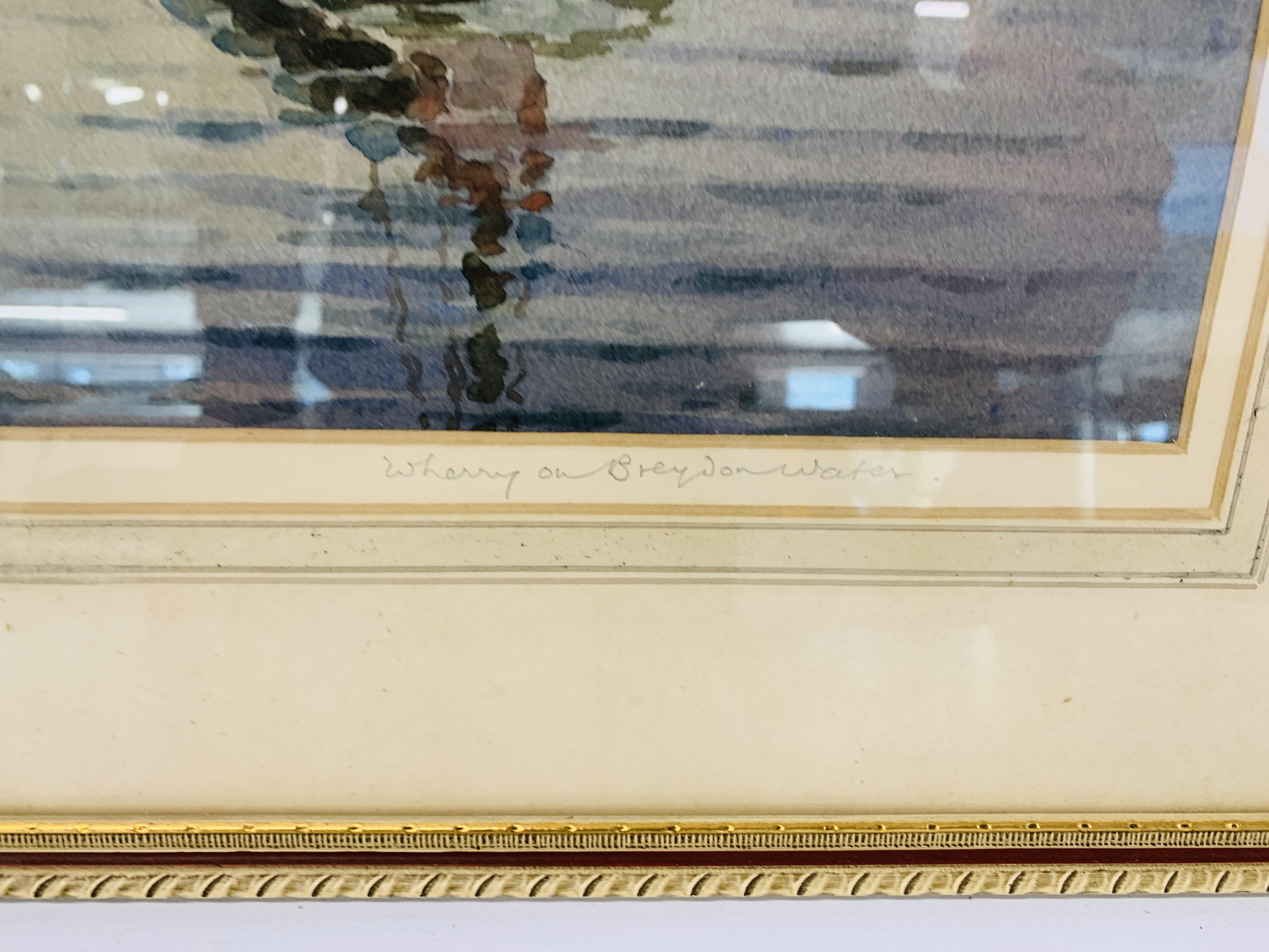"A FRAMED WATERCOLOUR ""BEYOND REPAIR"" BEARING SIGNATURE HANNAFORD JUNIOR - 33.5 X 42.5 CM. - Image 8 of 11"