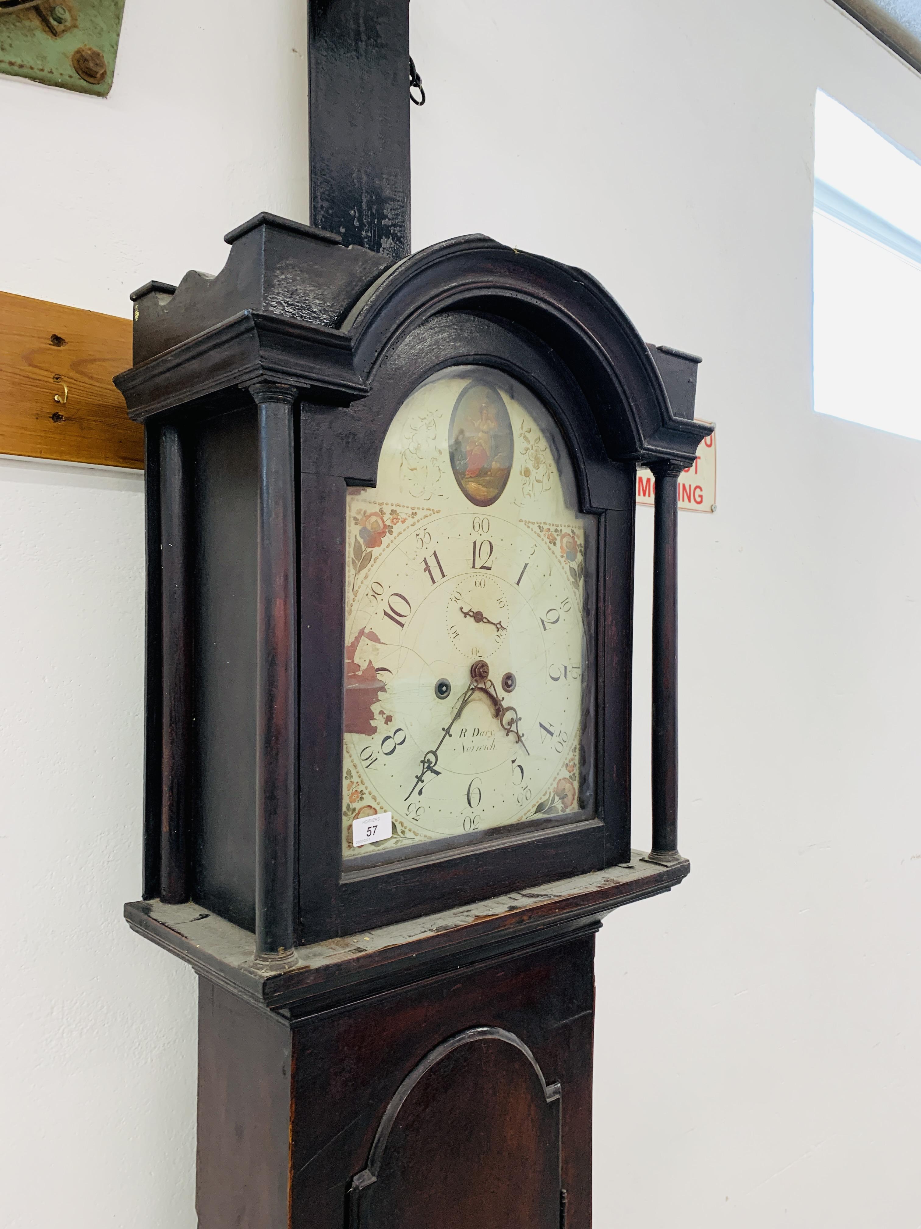 "PERIOD MAHOGANY CASED GRANDFATHER CLOCK ""R. - Image 3 of 10"