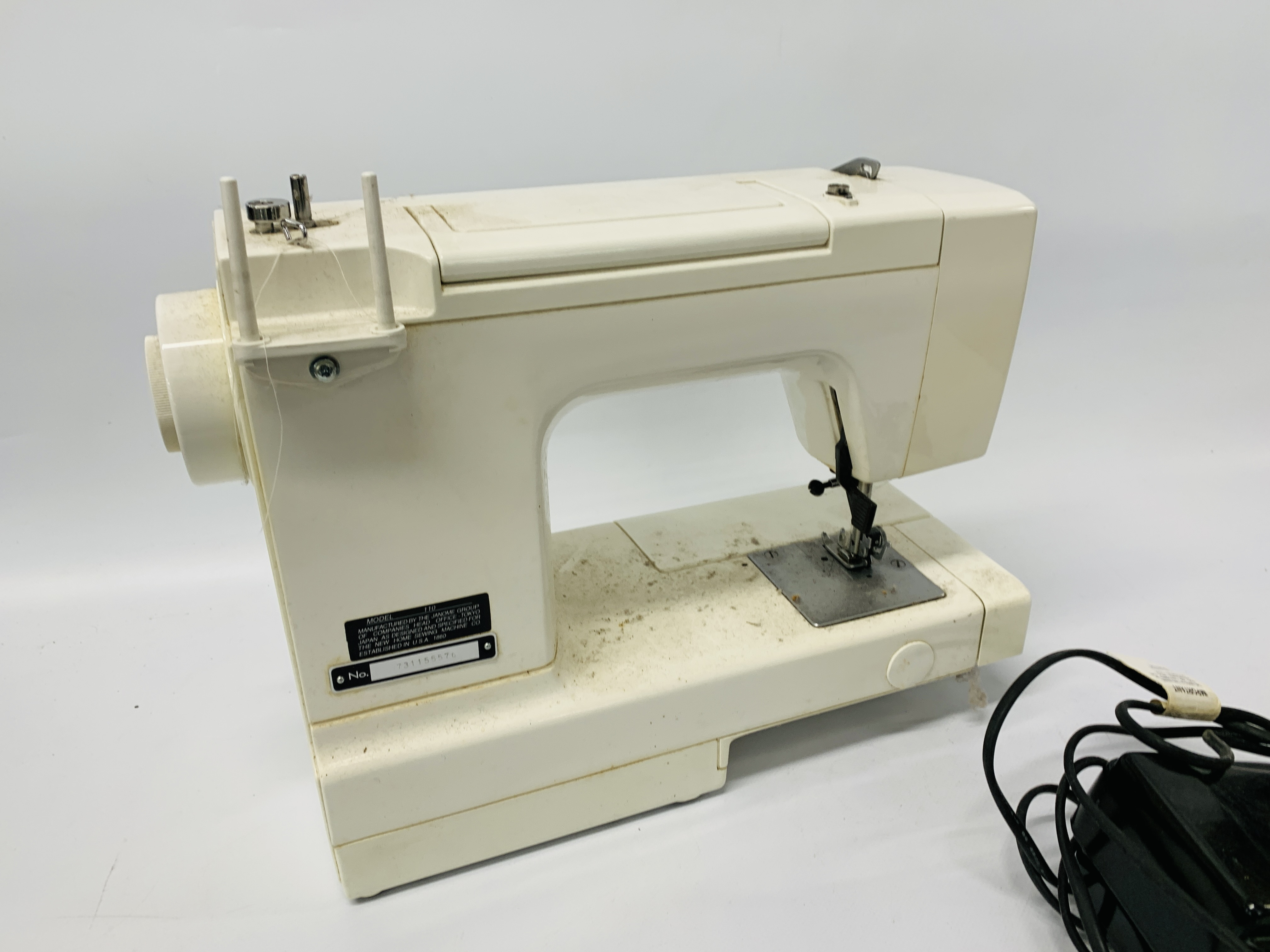 JANOME 110 SEWING MACHINE + VARIOUS KNITTING AND SEWING ACCESSORIES - SOLD AS SEEN - Image 5 of 12