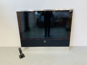 A LOEWE REFERENCE 52 TELEVISION WITH ORIGINAL REMOTE - SOLD AS SEEN