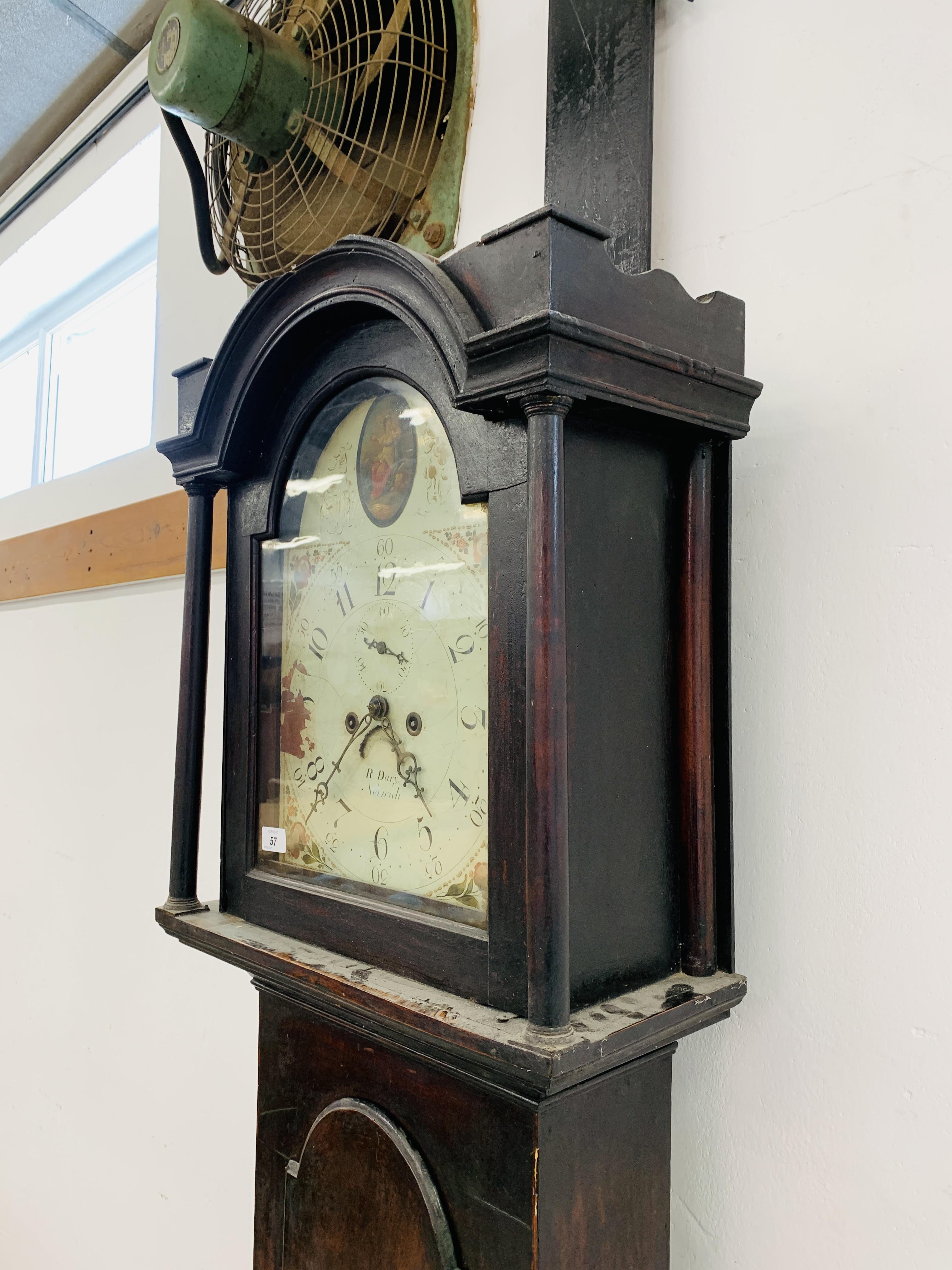 "PERIOD MAHOGANY CASED GRANDFATHER CLOCK ""R. - Image 8 of 10"