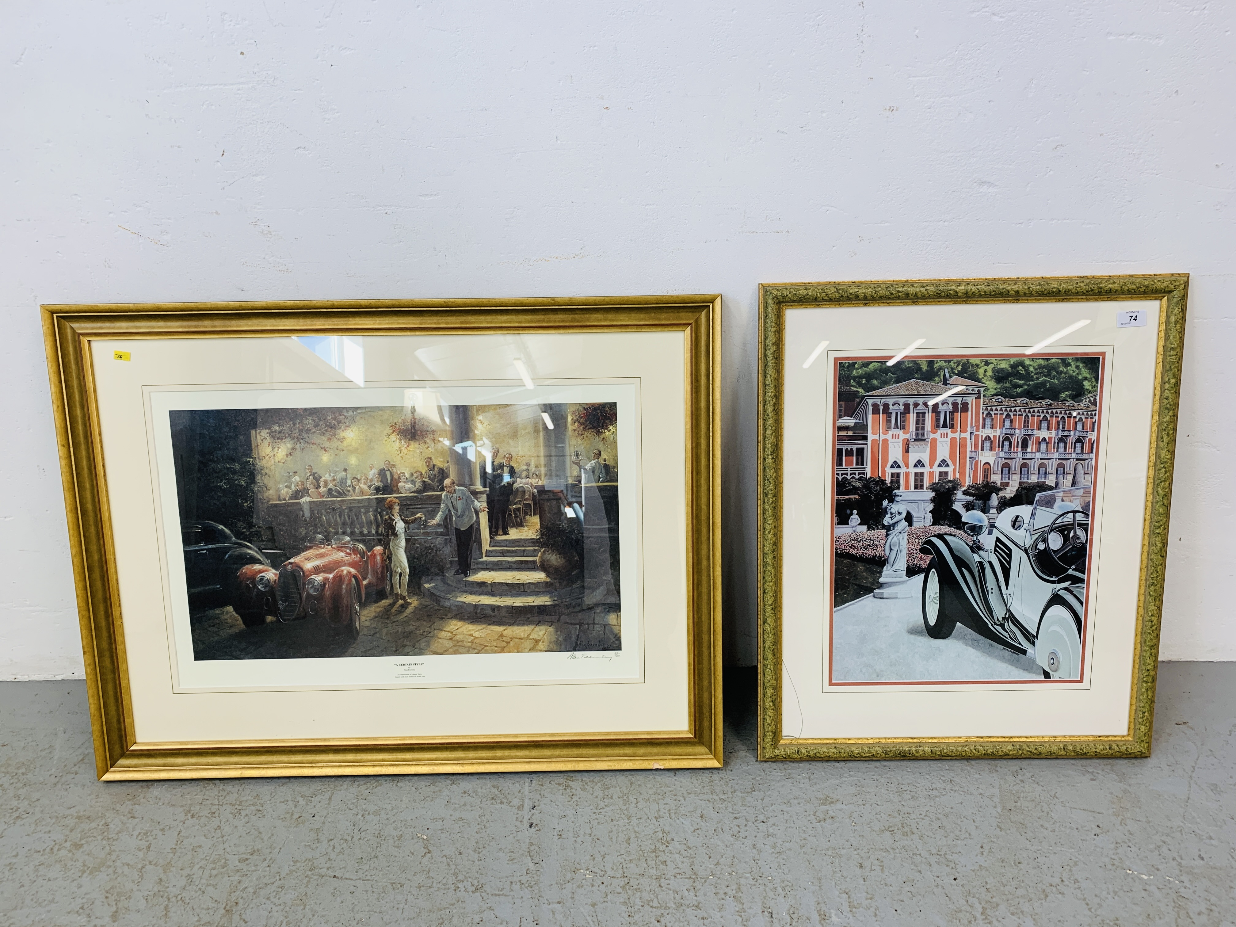 """A FRAMED AND MOUNTED ALAN FEARNLEY LTD EDITION PRINT """"A CERTAIN STYLE"""" 128/300 35."""