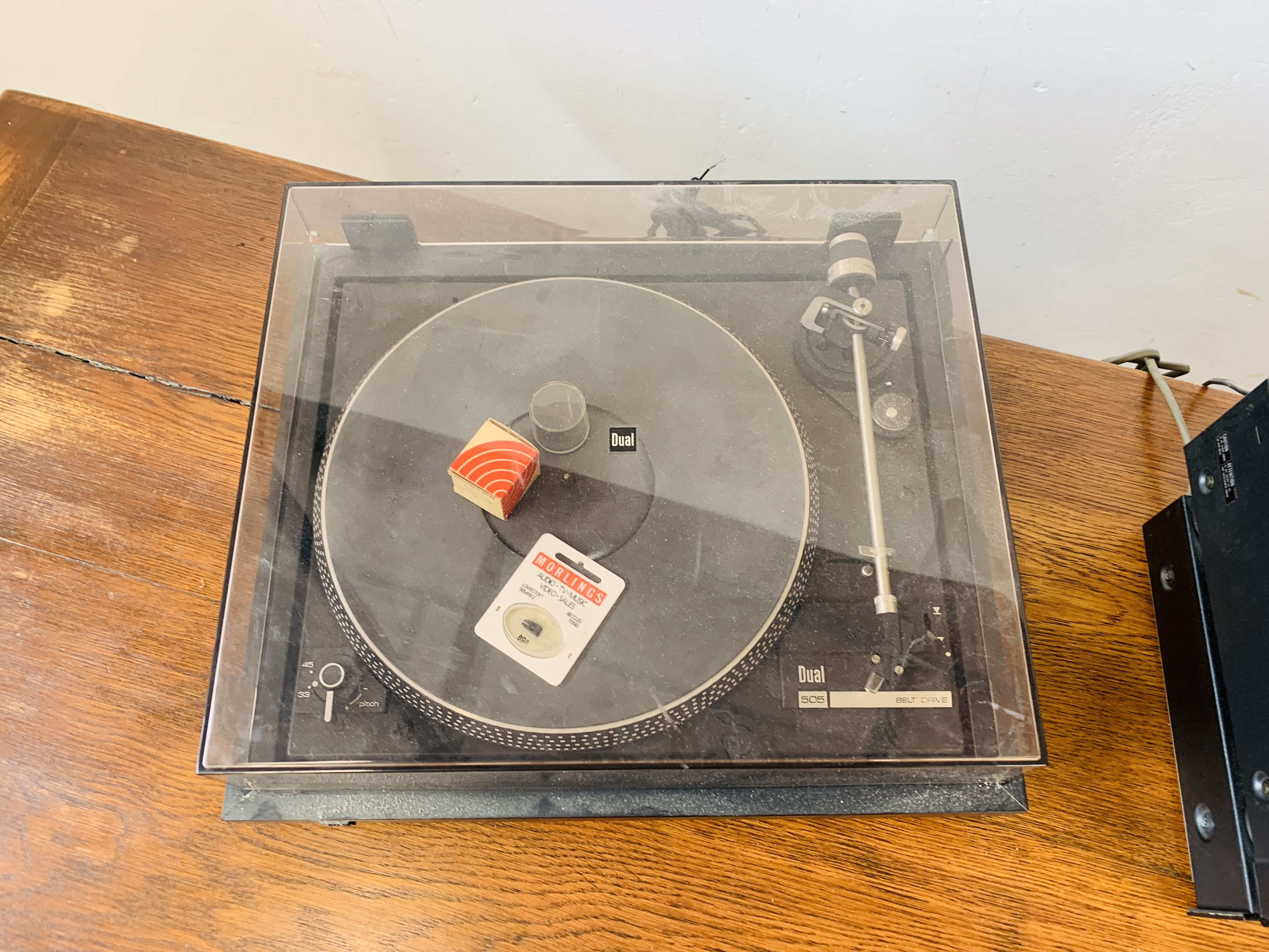 DUAL 505 BELT DRIVE TURNTABLE, - Image 3 of 7