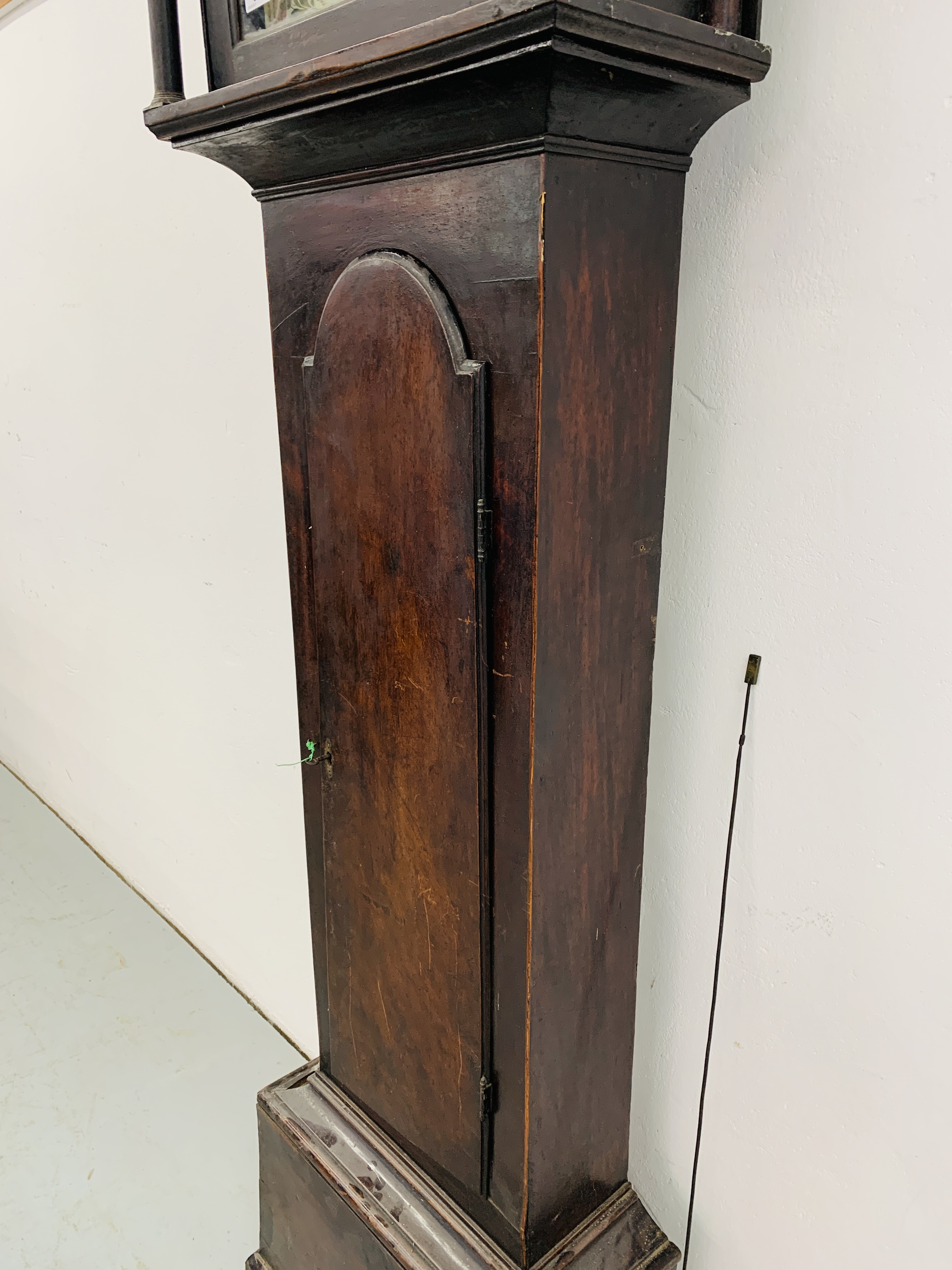 "PERIOD MAHOGANY CASED GRANDFATHER CLOCK ""R. - Image 9 of 10"