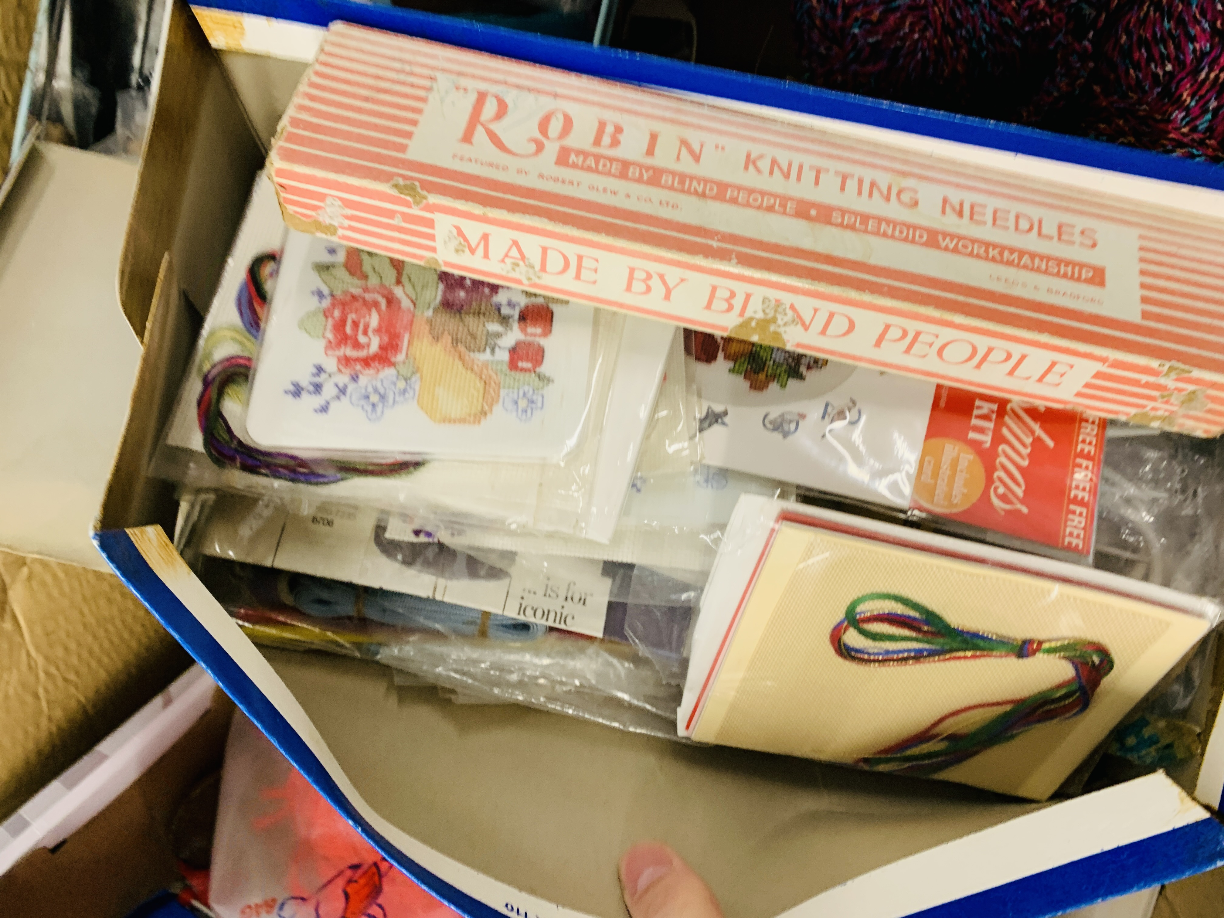 JANOME 110 SEWING MACHINE + VARIOUS KNITTING AND SEWING ACCESSORIES - SOLD AS SEEN - Image 8 of 12
