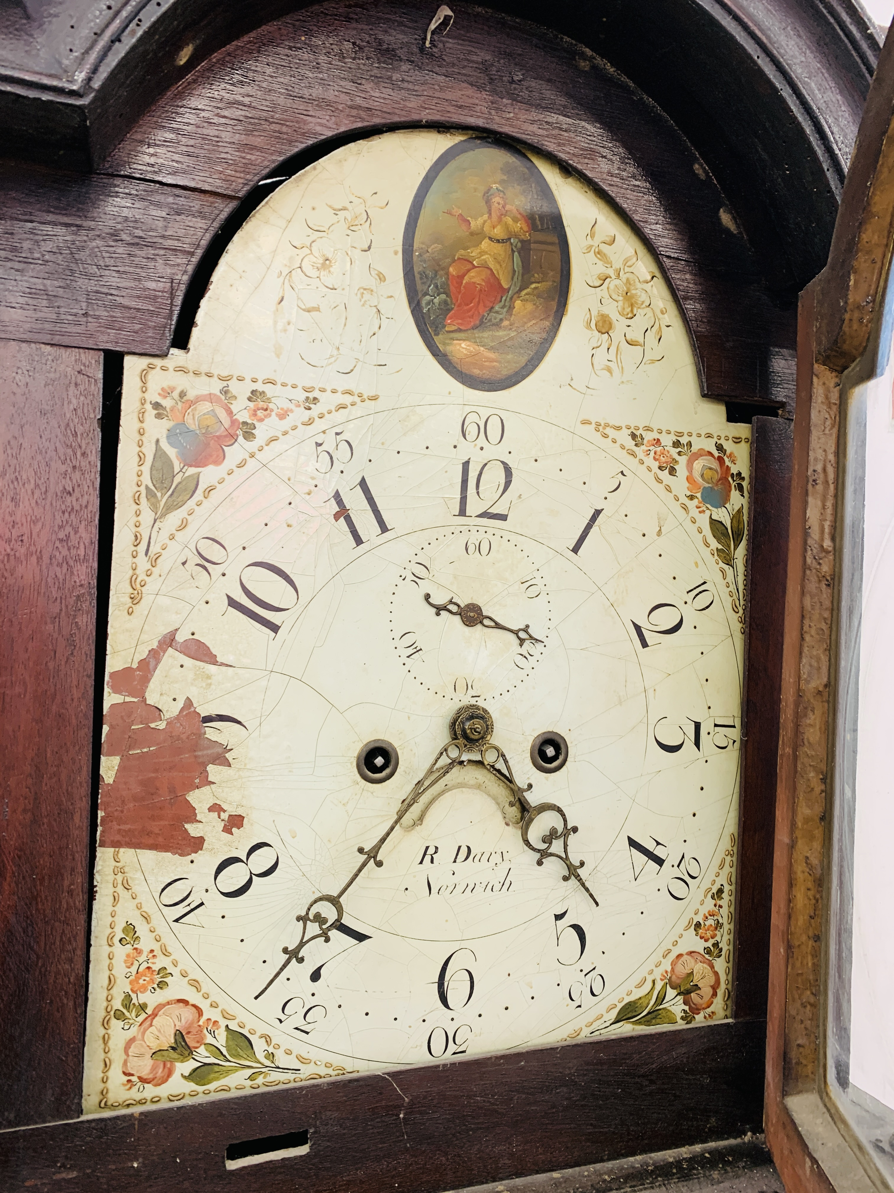 "PERIOD MAHOGANY CASED GRANDFATHER CLOCK ""R. - Image 7 of 10"