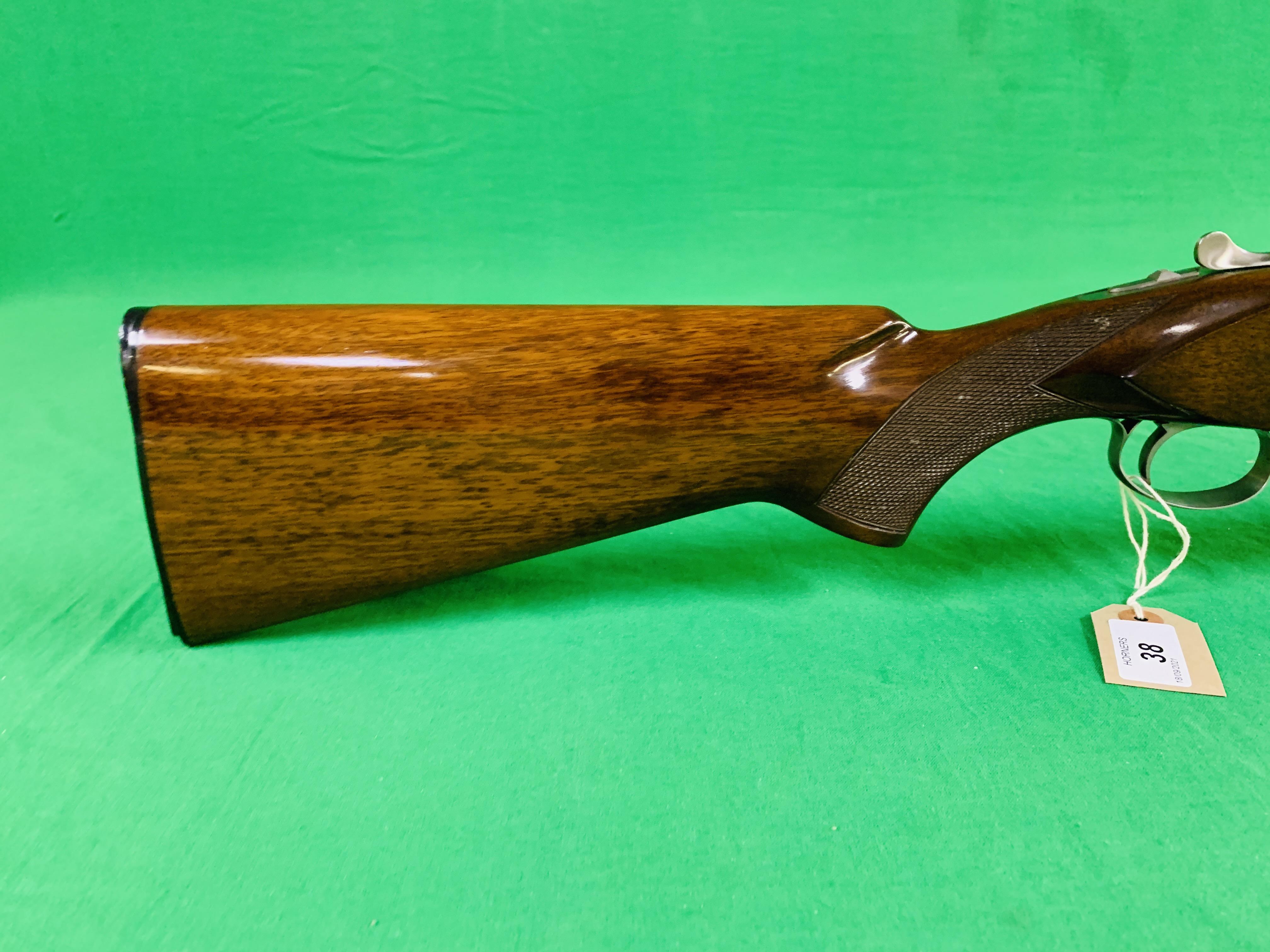 NIKKO 5000 12 BORE OVER AND UNDER SHOTGUN # K629564 - FIXED CHOKE, - Image 4 of 8