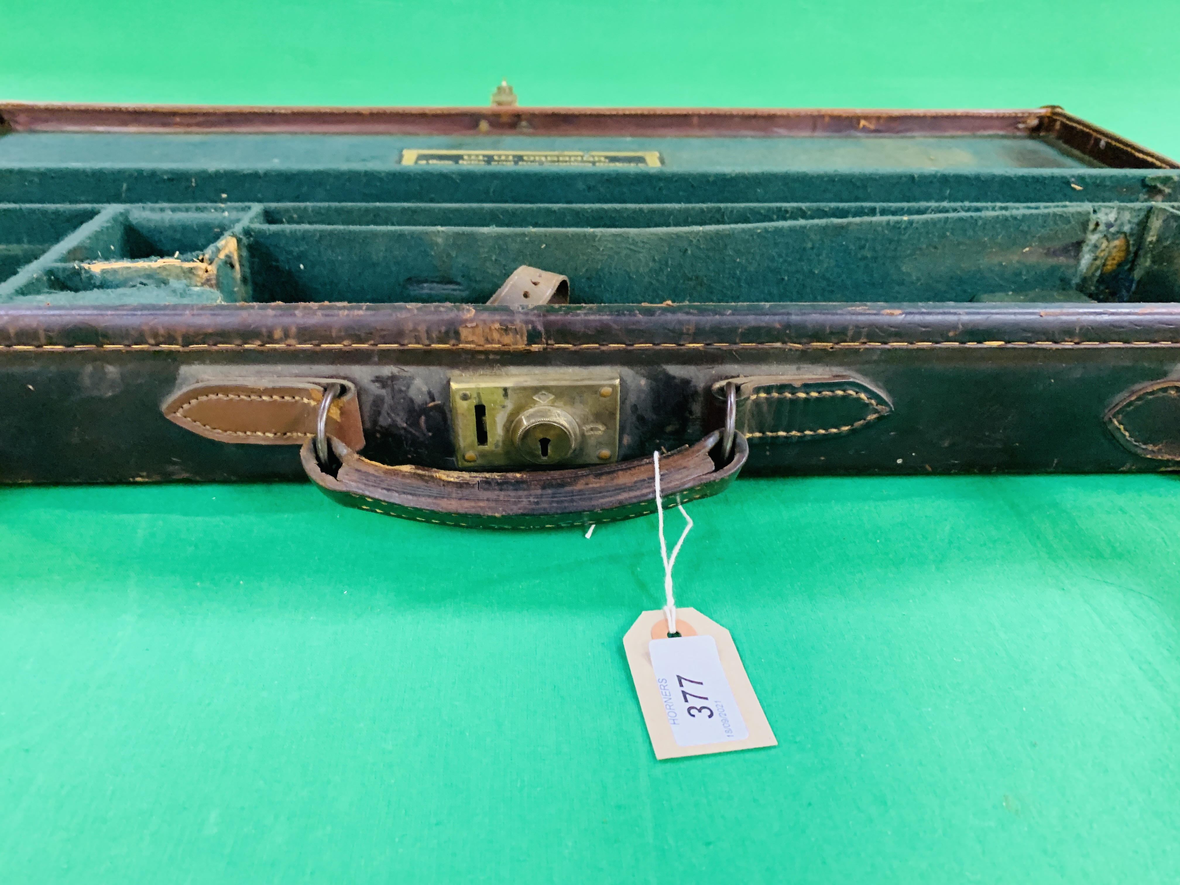 """BEST LEATHER 30"""" SIDE BY SIDE GUN CASE WITH W.W. - Image 7 of 10"""