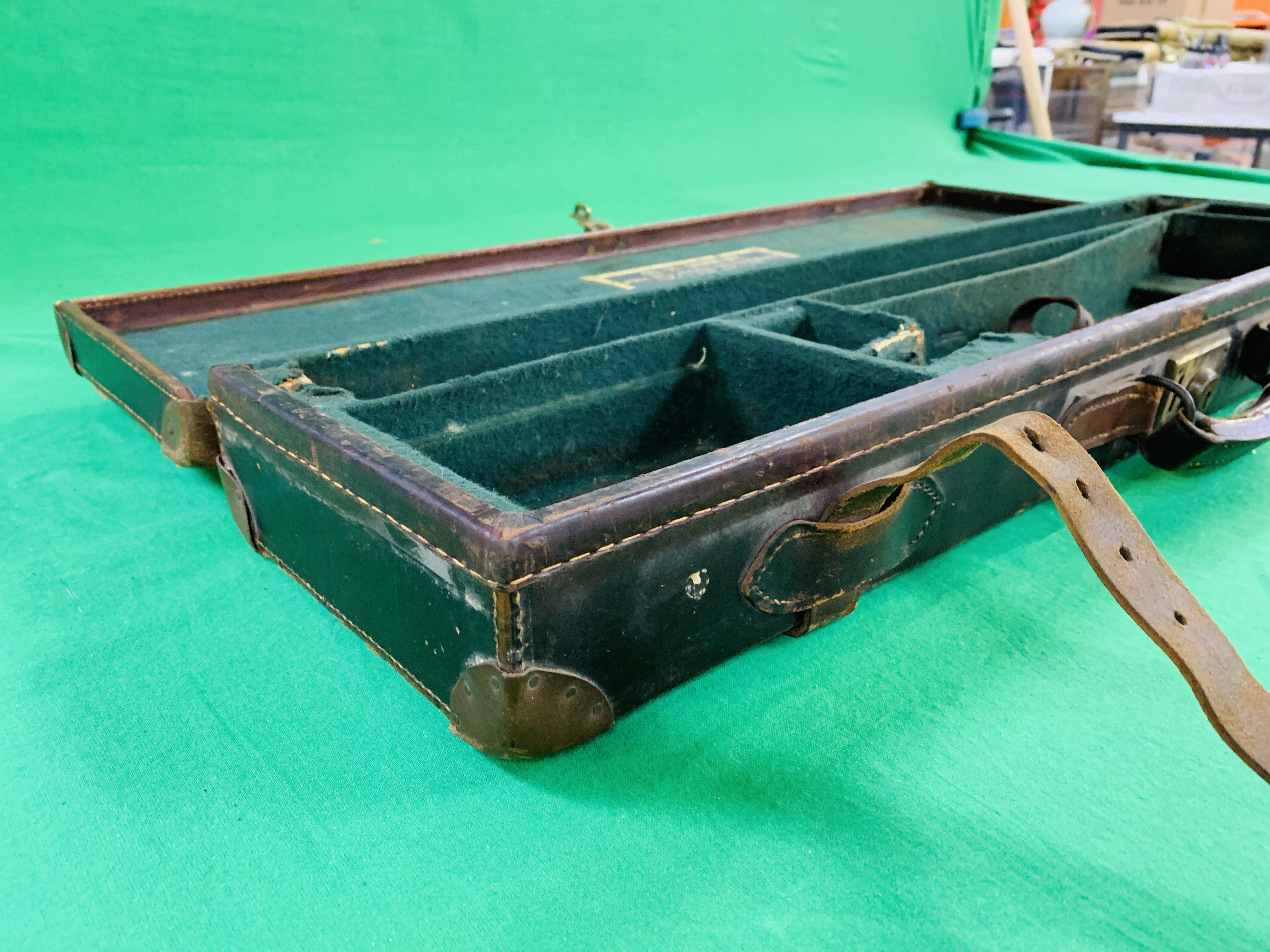 """BEST LEATHER 30"""" SIDE BY SIDE GUN CASE WITH W.W. - Image 6 of 10"""