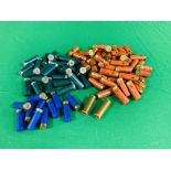 A BOX CONTAINING A COLLECTION OF APPROX 85 MIXED CARTRIDGES TO INCLUDE MAINLY 12G & SOME 16G (ELEY