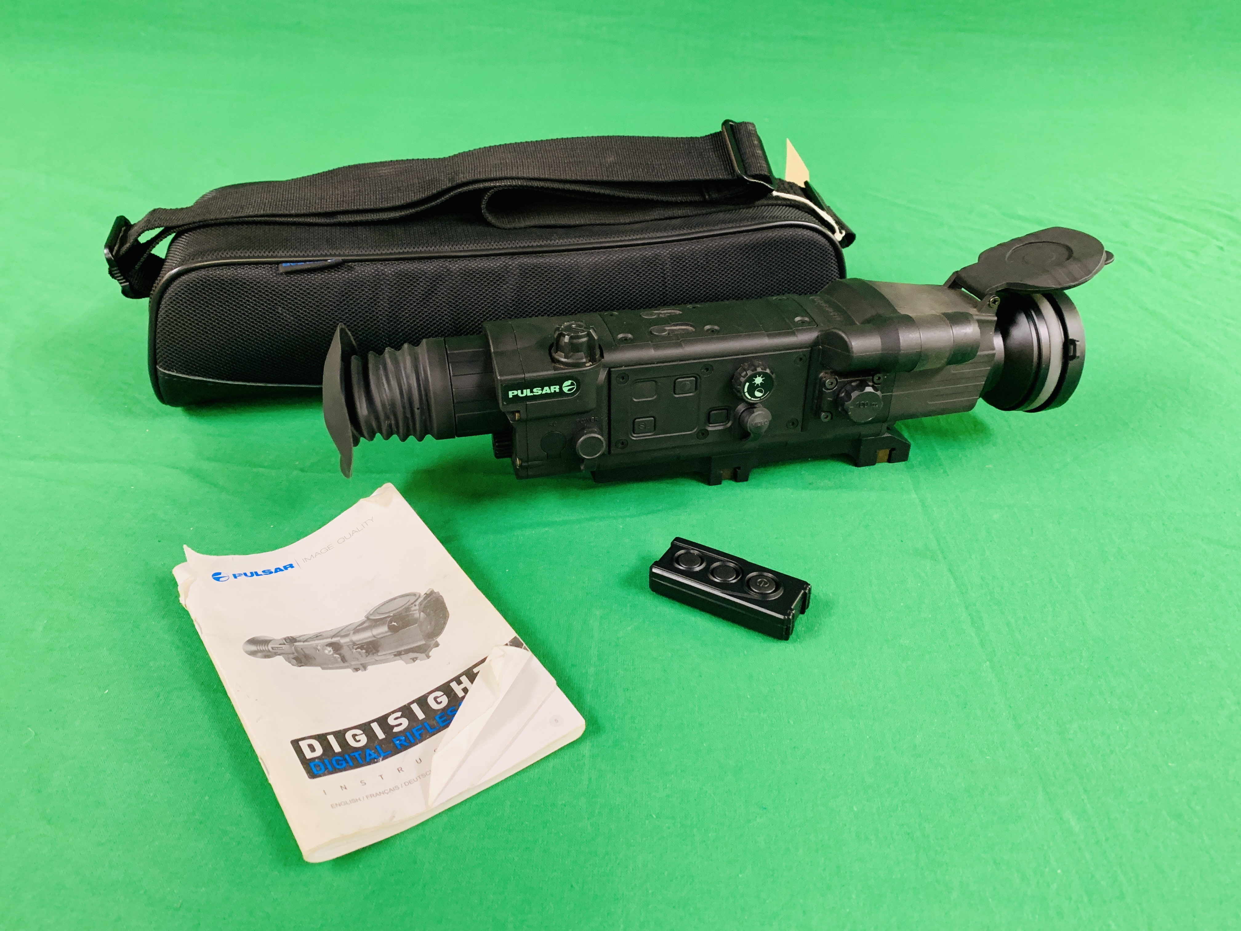 PULSAR N750 DIGI SIGHT RIFLE SCOPE COMPLETE WITH SONY TELE CONVERSION LENS ALONG WITH INSTRUCTION