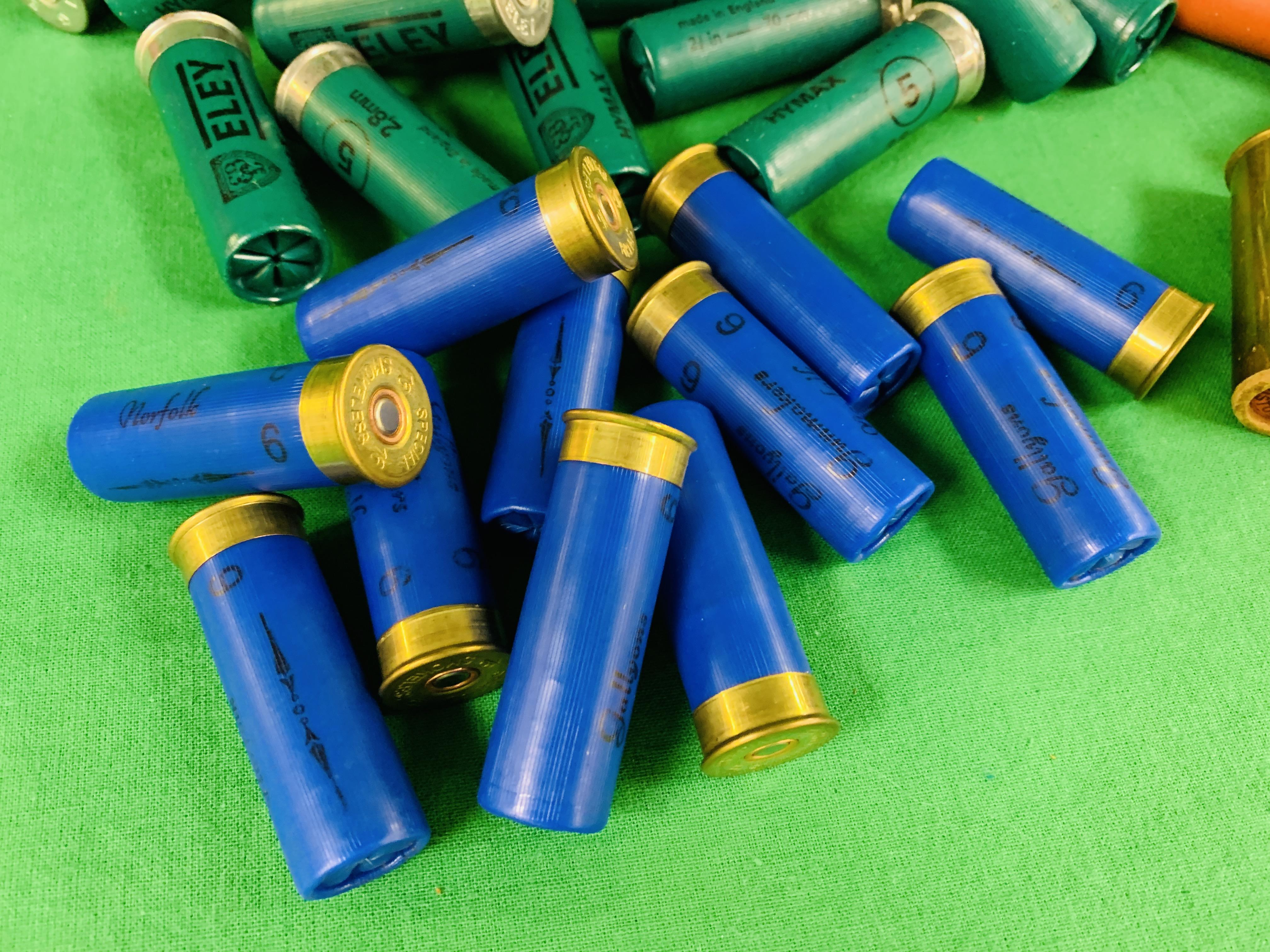 A BOX CONTAINING A COLLECTION OF APPROX 85 MIXED CARTRIDGES TO INCLUDE MAINLY 12G & SOME 16G (ELEY - Image 2 of 7