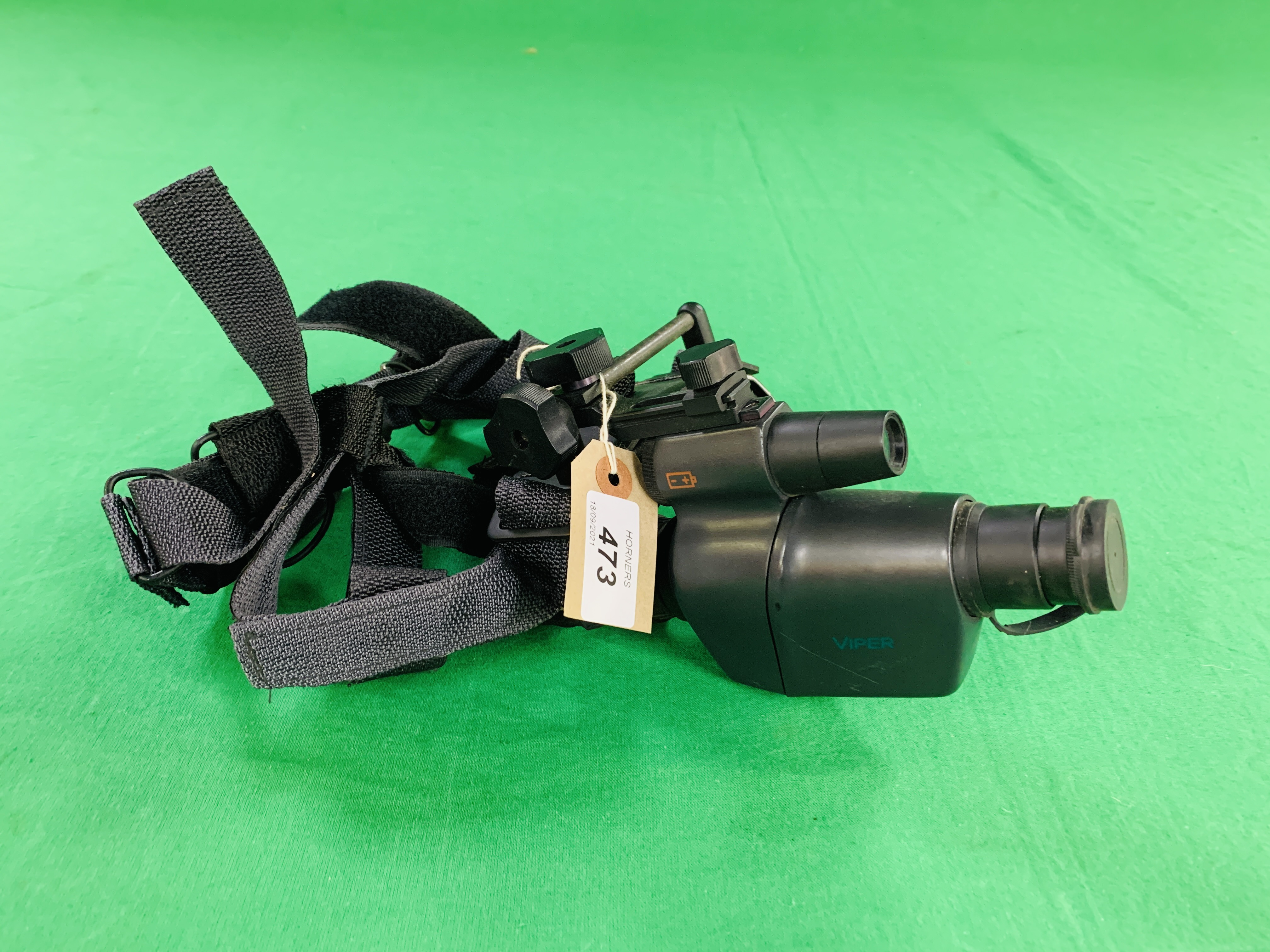 A ATN VIPER NIGHT VISION MONOCULAR INFERRED SITE WITH HEAD BAND