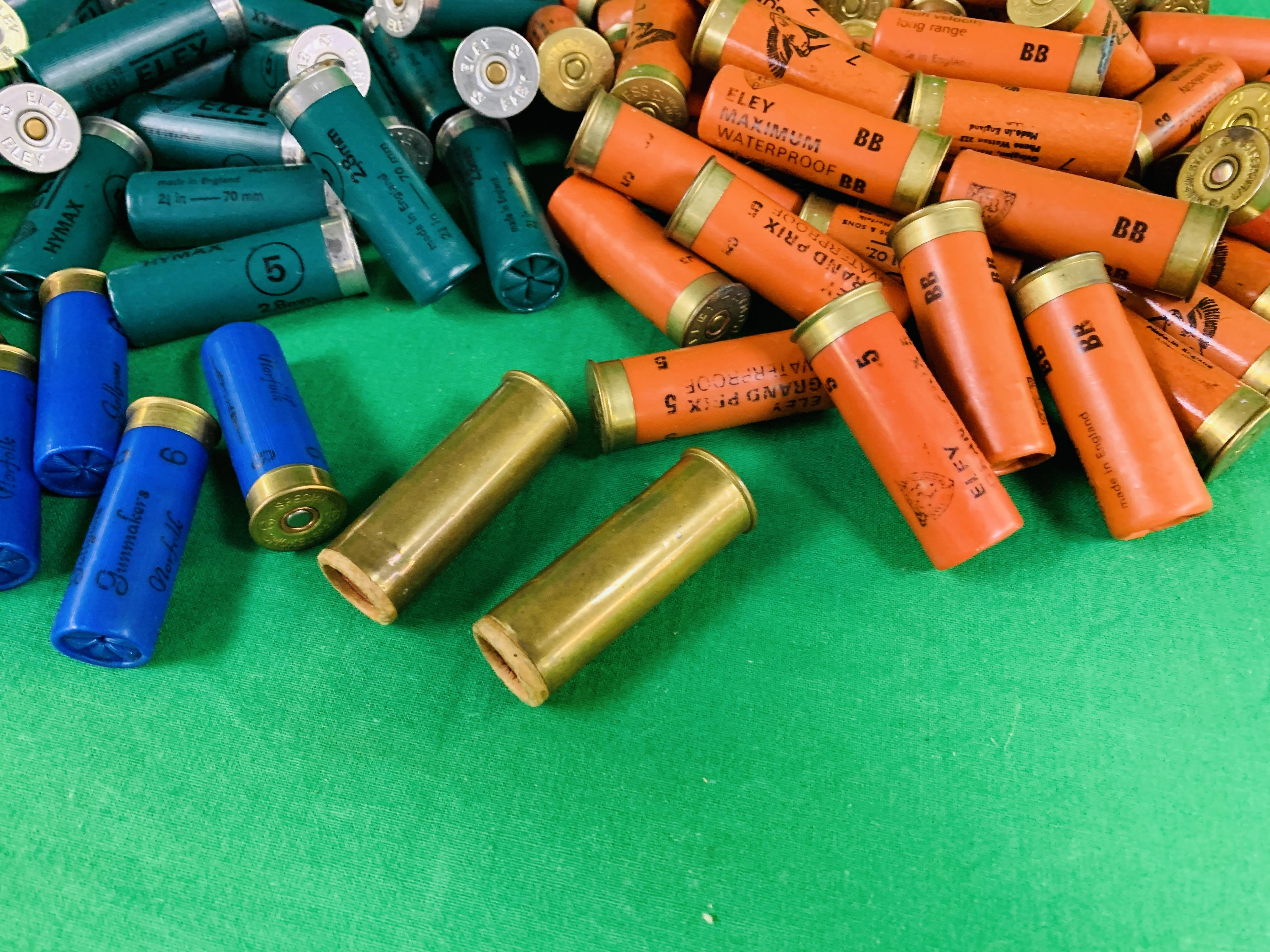 A BOX CONTAINING A COLLECTION OF APPROX 85 MIXED CARTRIDGES TO INCLUDE MAINLY 12G & SOME 16G (ELEY - Image 5 of 7