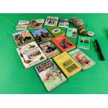 COLLECTION OF 14 SHOOTING RELATED BOOKS TO INCLUDE RABBITING, GAMEKEEPING, POACHING,