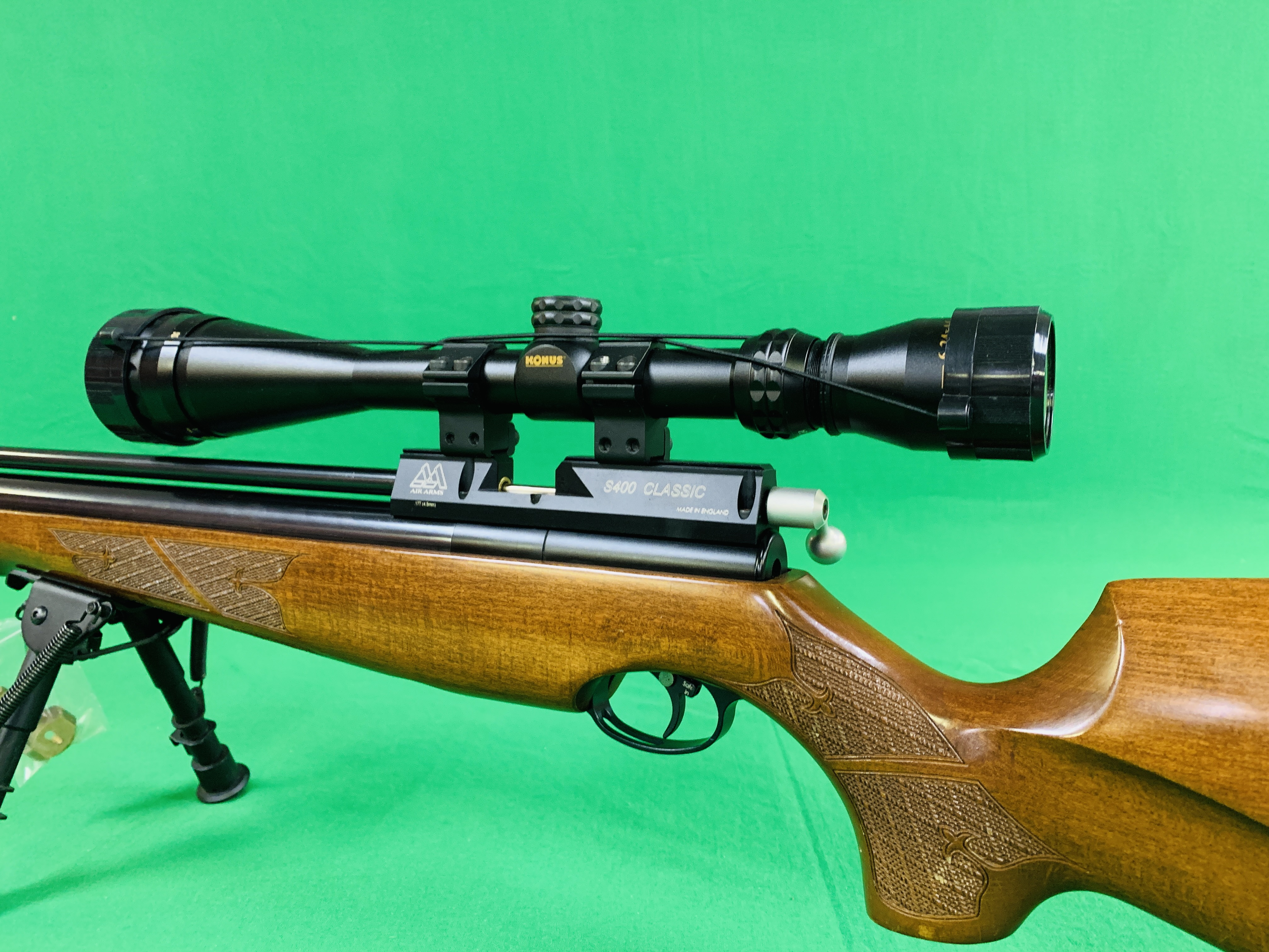 AIR ARMS S400 CLASSIC .177 BOLT ACTION PCP AIR RIFLE FITTED WITH BONUS 6. - Image 4 of 17
