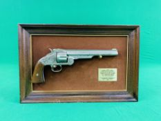 """A FRAMED AND MOUNTED REPLICA """"THE WYATT EARP ."""