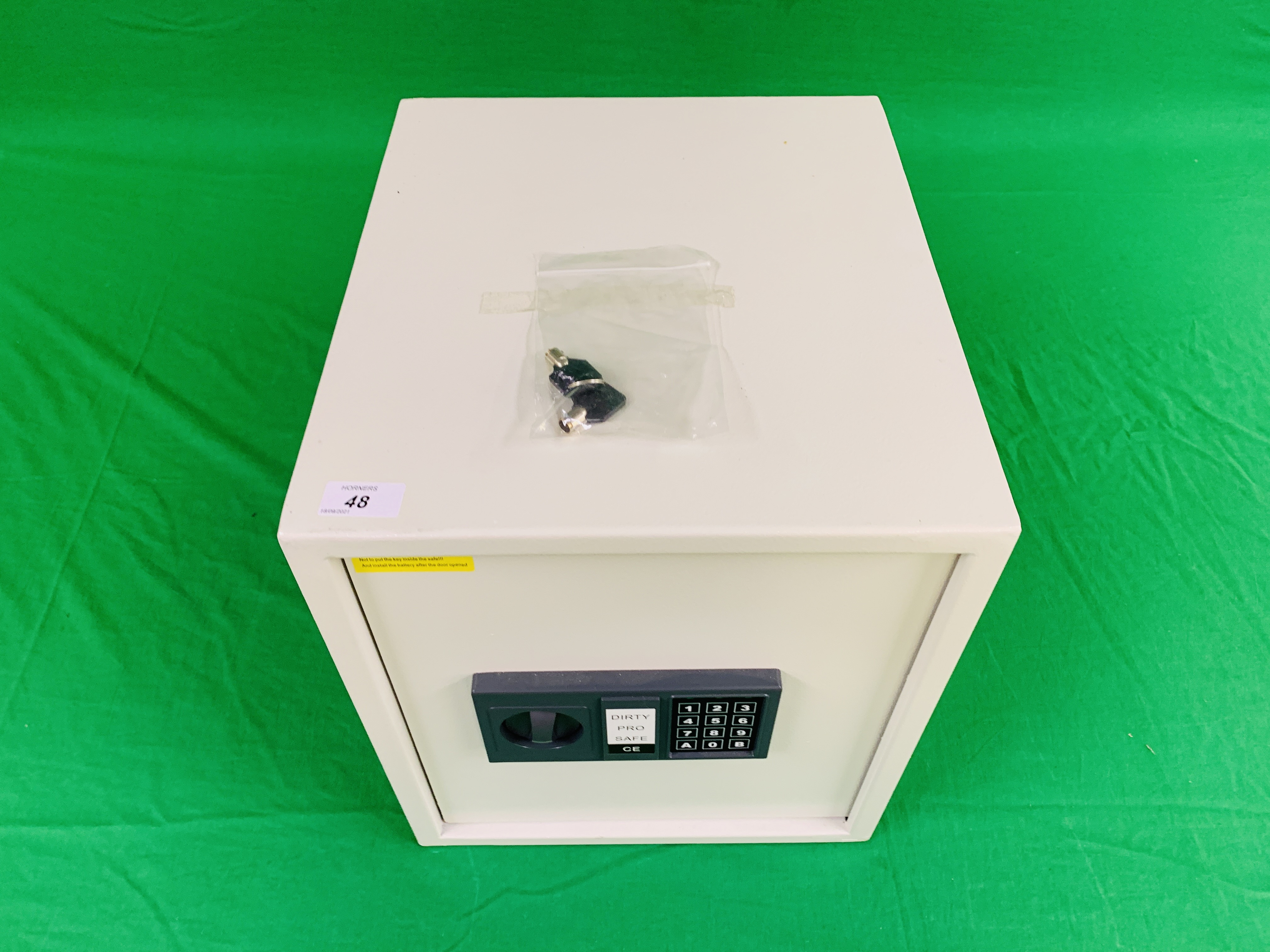 DIRTY PRO SAFE CE ELECTRIC COMBINATION SAFE COMPLETE WITH INSTRUCTIONS ALONG WITH FOUR AS NEW AMTA - Image 2 of 8