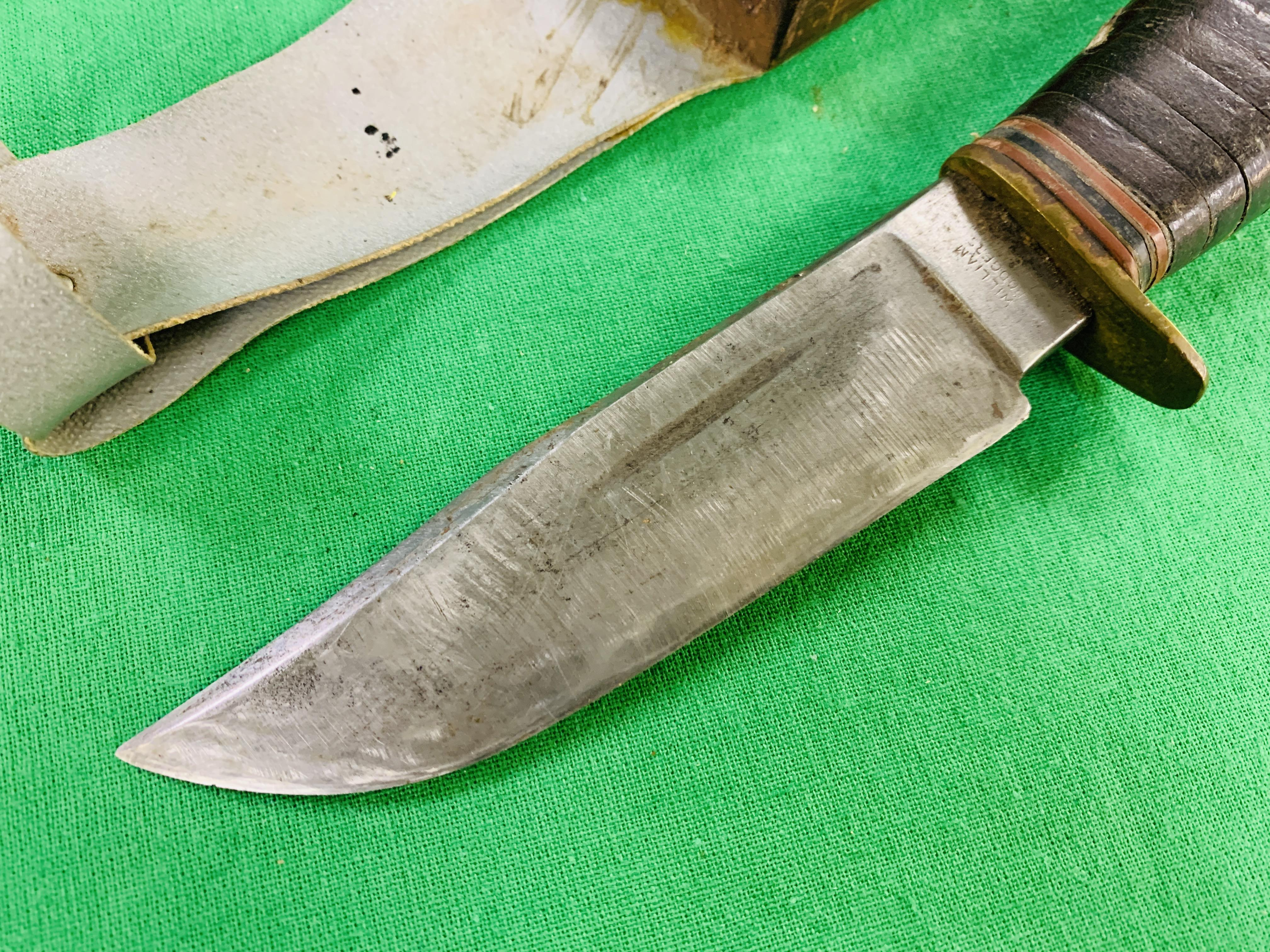 """A SCOUTING """"I CUT MY WAY"""" KNIFE IN SHEAF - Image 2 of 8"""