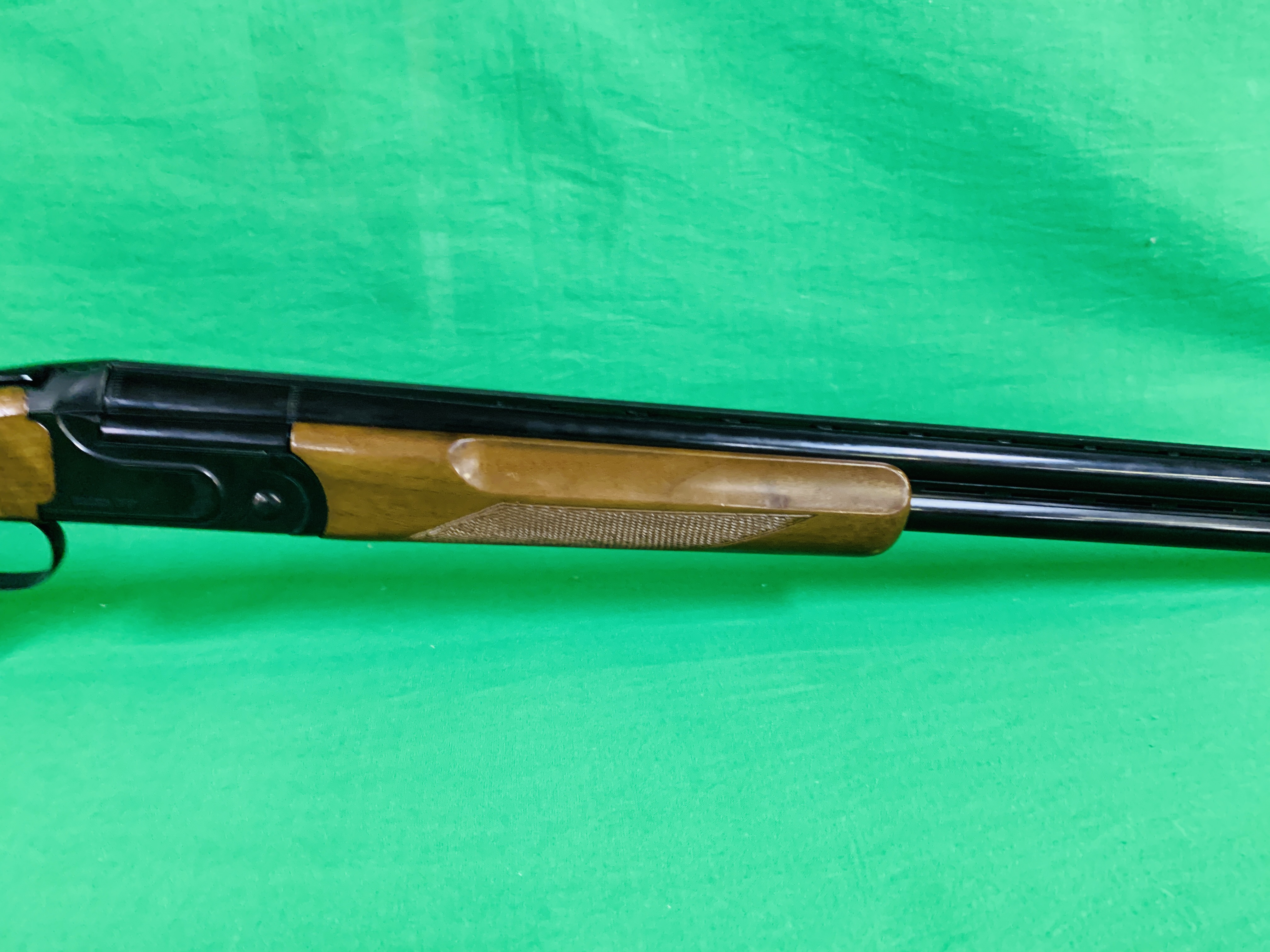 ZAFER MODEL 01612 12 BORE OVER AND UNDER SHOTGUN # 01483, SELECTABLE SINGLE TRIGGER, NON EJECTOR, - Image 5 of 8