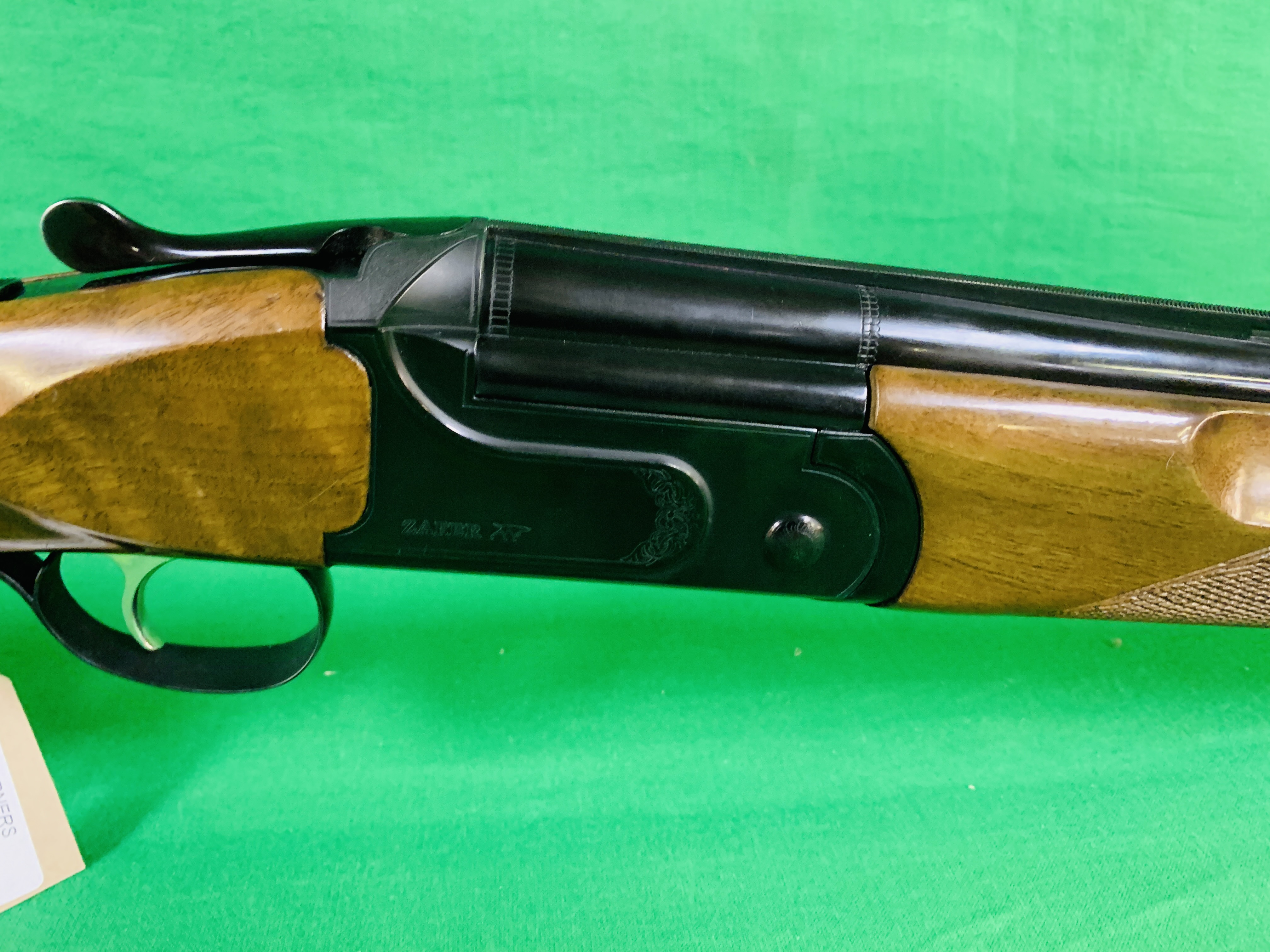 ZAFER MODEL 01612 12 BORE OVER AND UNDER SHOTGUN # 01483, SELECTABLE SINGLE TRIGGER, NON EJECTOR, - Image 3 of 8