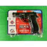 A CROSMAN PF M16 COMPACT SEMI-AUTO CO² BB AIR PISTOL BOXED AS NEW - (ALL GUNS TO BE INSPECTED AND