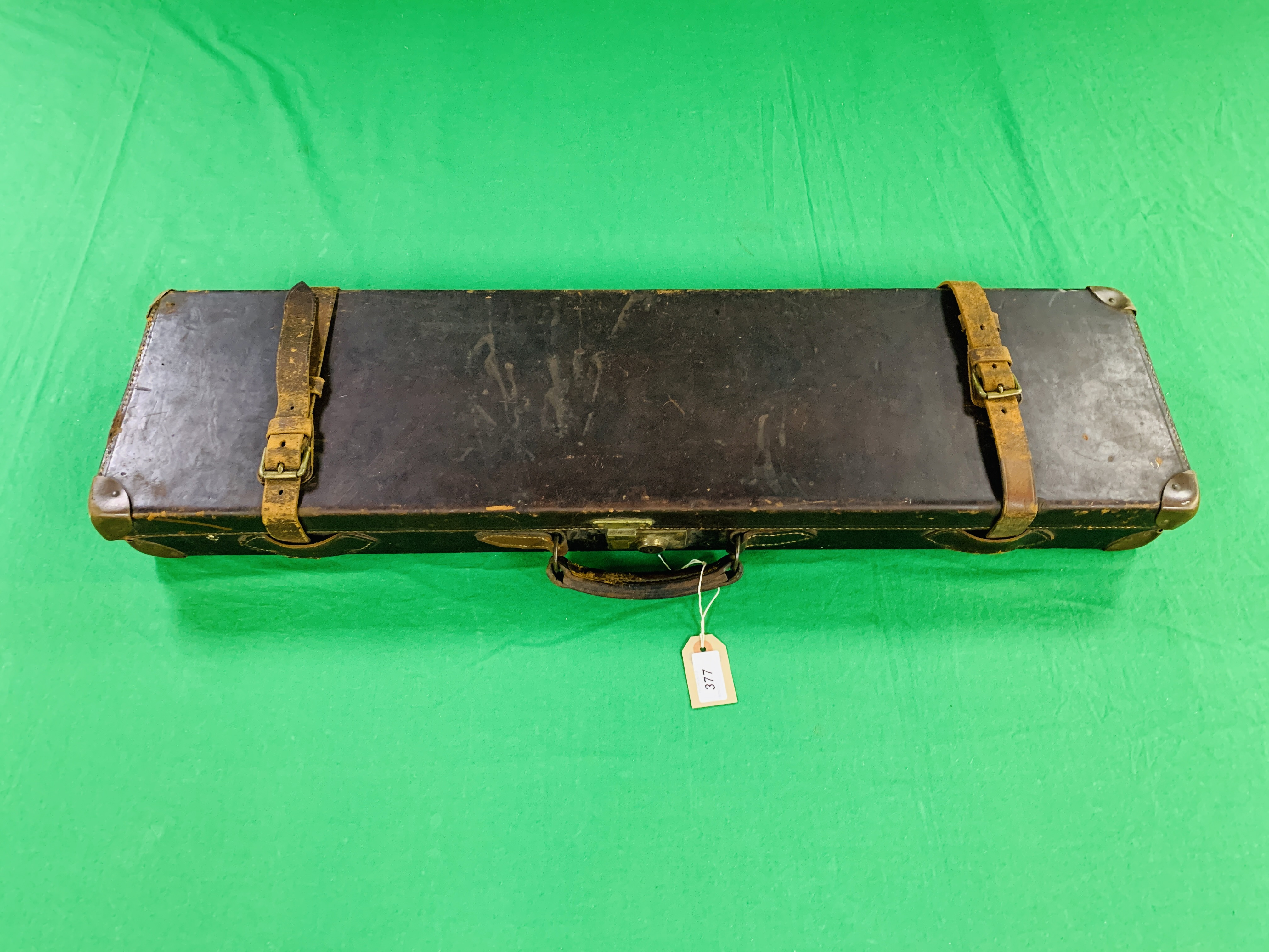 """BEST LEATHER 30"""" SIDE BY SIDE GUN CASE WITH W.W. - Image 10 of 10"""