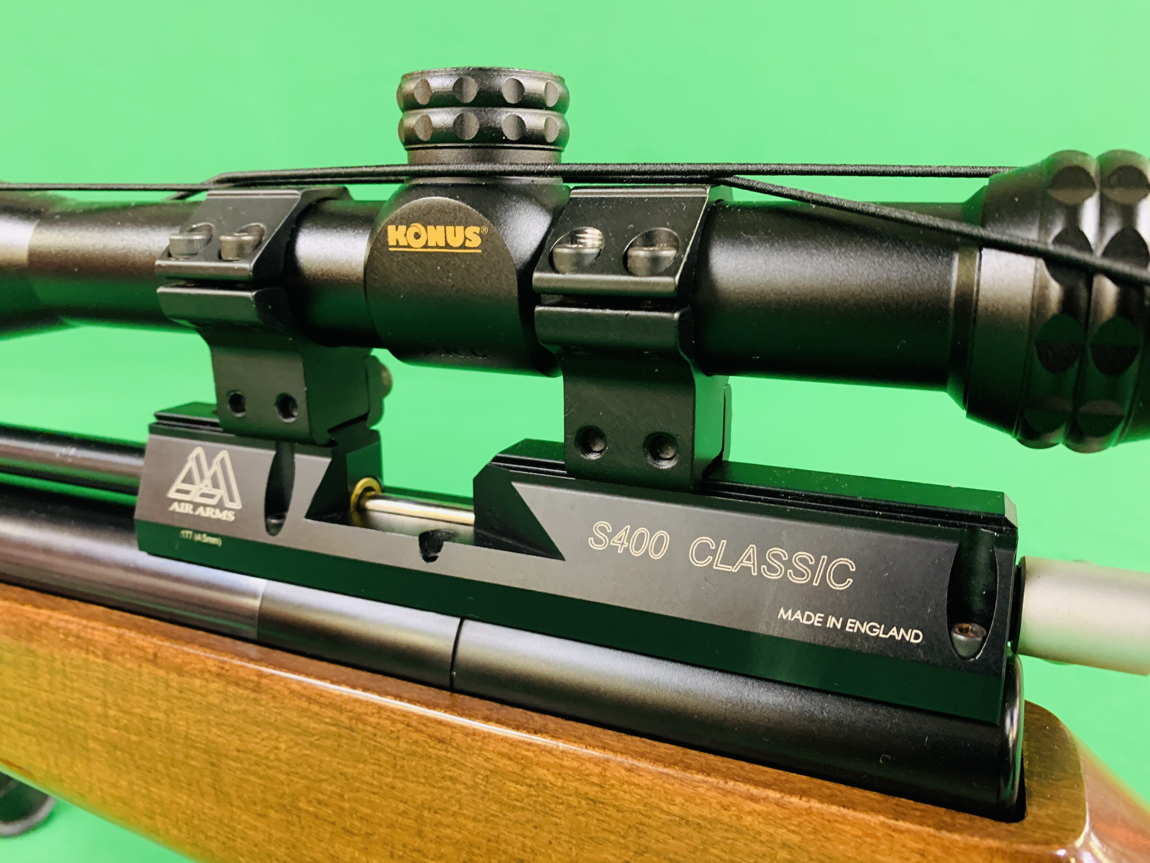 AIR ARMS S400 CLASSIC .177 BOLT ACTION PCP AIR RIFLE FITTED WITH BONUS 6. - Image 2 of 17