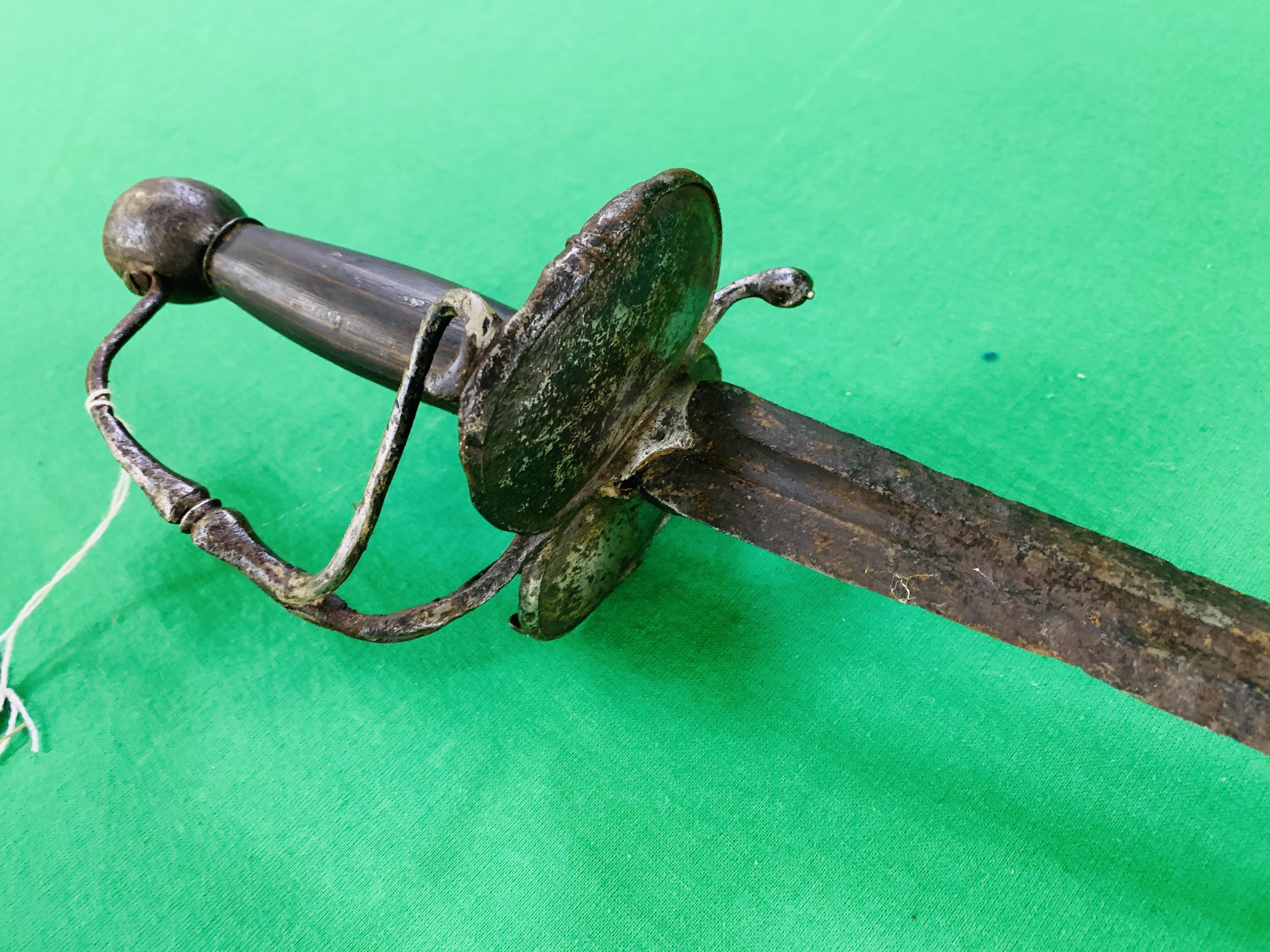 CIRCA 1642 CIVIL WAR SWORD - Image 3 of 6