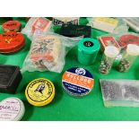A COLLECTION OF VINTAGE AIR RIFLE PELLETS TO INCLUDE WEBLEY WASP, JOHN BULL AIR SHIP,