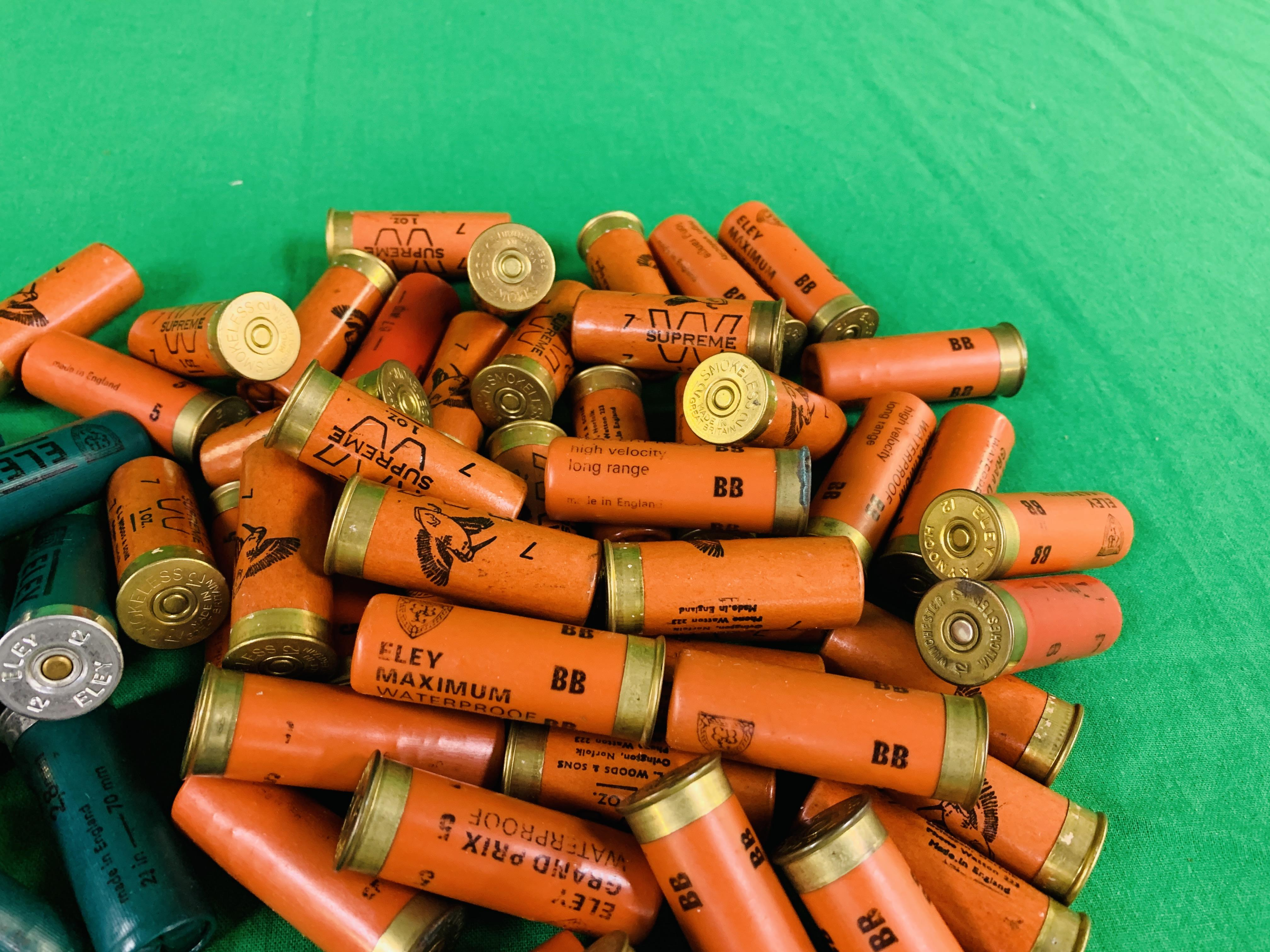 A BOX CONTAINING A COLLECTION OF APPROX 85 MIXED CARTRIDGES TO INCLUDE MAINLY 12G & SOME 16G (ELEY - Image 4 of 7