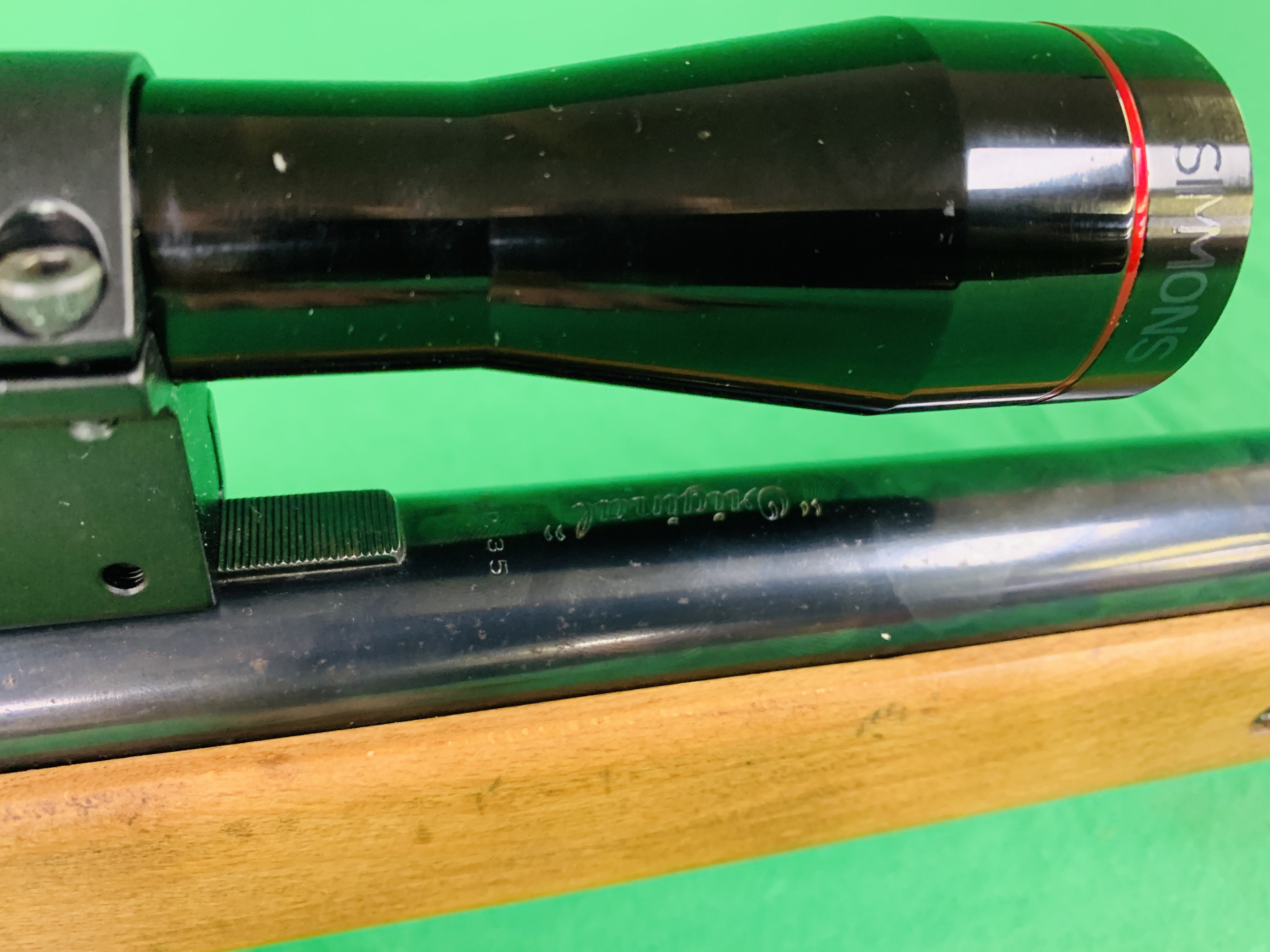 """AN """"ORIGINAL"""" MODEL 35 .22 BREAK BARREL AIR RIFLE FITTED WITH SIMMONS 4. - Image 6 of 10"""
