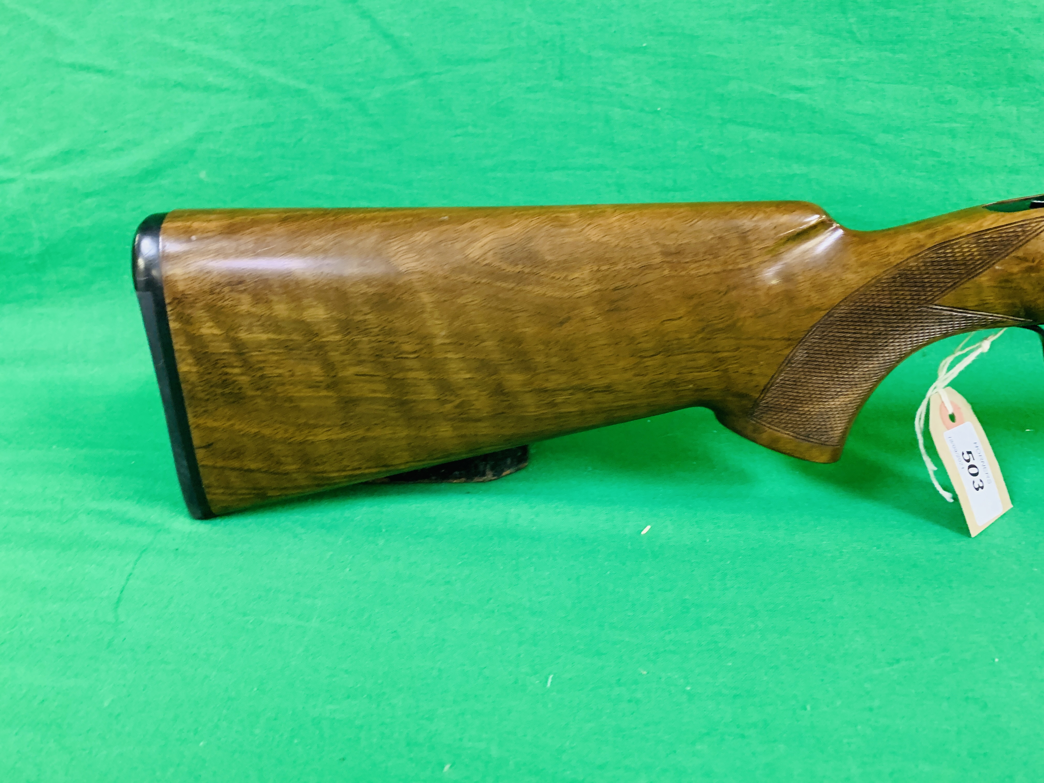 ZAFER MODEL 01612 12 BORE OVER AND UNDER SHOTGUN # 01483, SELECTABLE SINGLE TRIGGER, NON EJECTOR, - Image 4 of 8