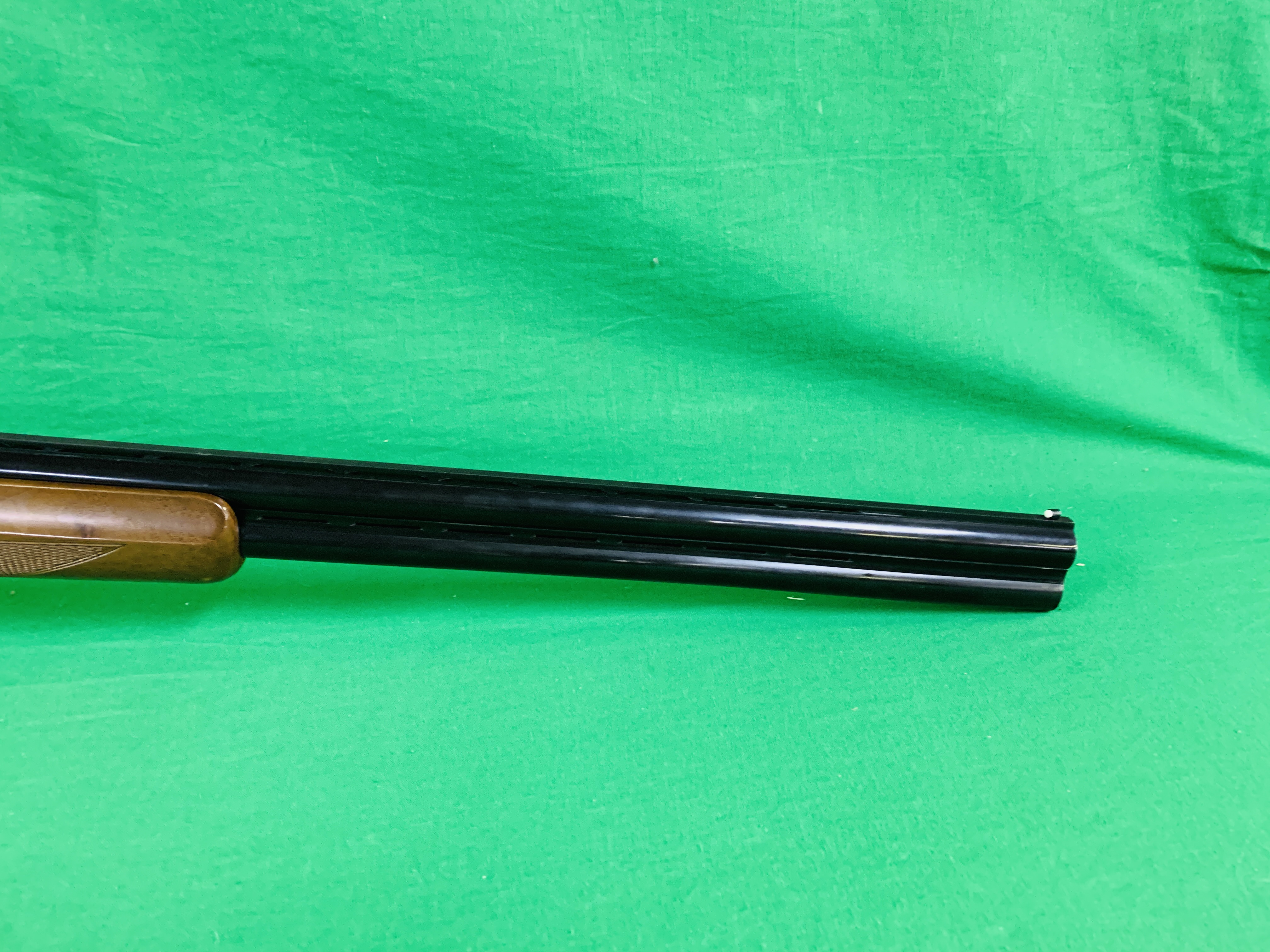 ZAFER MODEL 01612 12 BORE OVER AND UNDER SHOTGUN # 01483, SELECTABLE SINGLE TRIGGER, NON EJECTOR, - Image 6 of 8