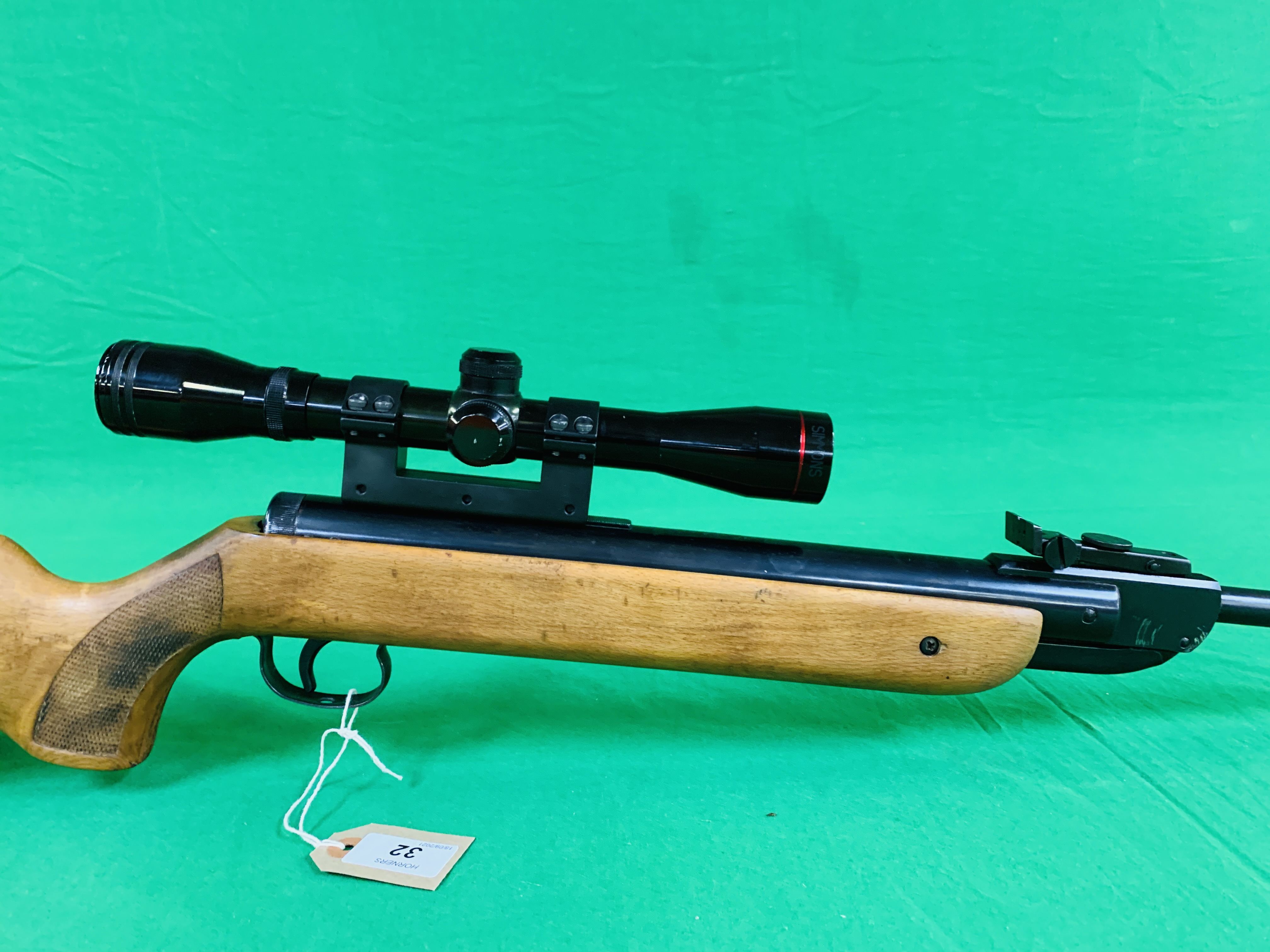 """AN """"ORIGINAL"""" MODEL 35 .22 BREAK BARREL AIR RIFLE FITTED WITH SIMMONS 4. - Image 3 of 10"""