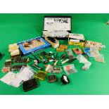 A COLLECTION OF VARIOUS GUN ACCESSORIES AND MOULDING TOOLS TO INCLUDE BSA SEALS, BRACKETS,
