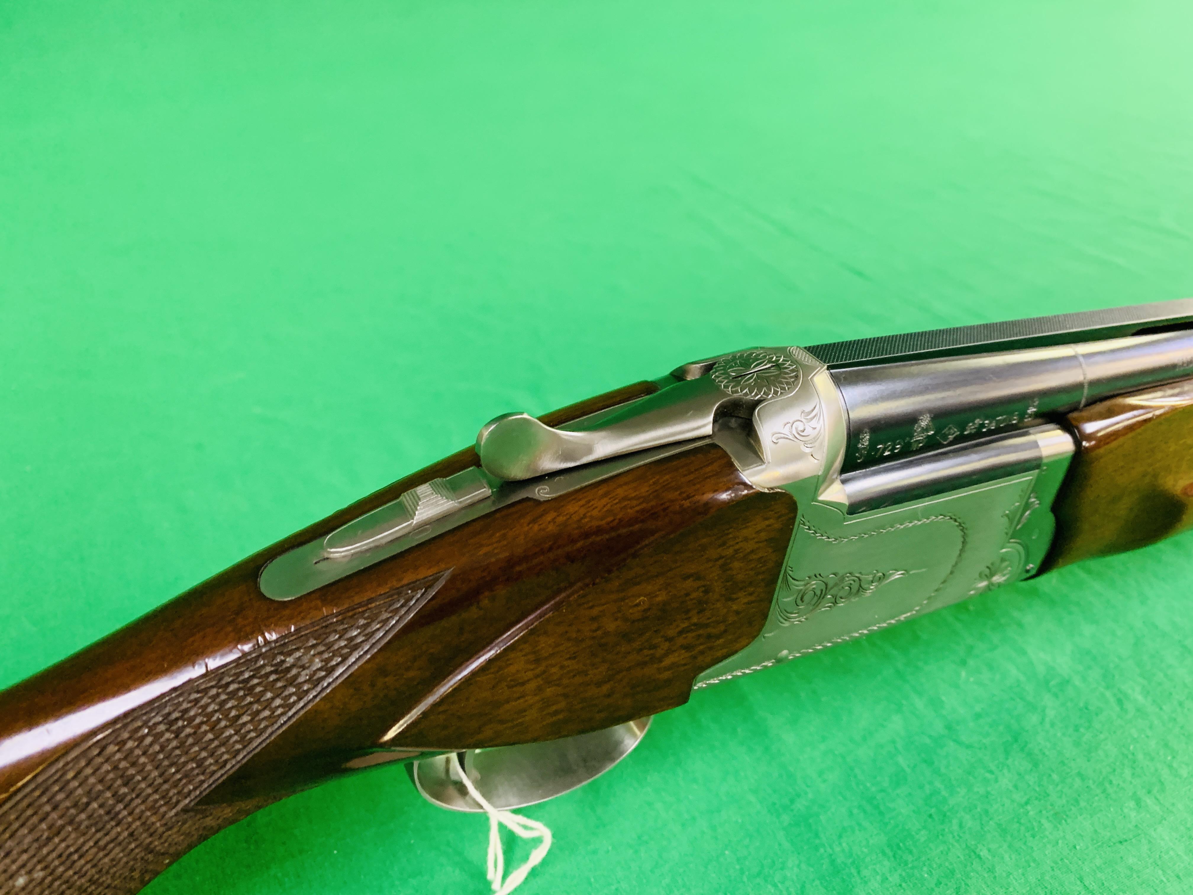 NIKKO 5000 12 BORE OVER AND UNDER SHOTGUN # K629564 - FIXED CHOKE, - Image 2 of 8
