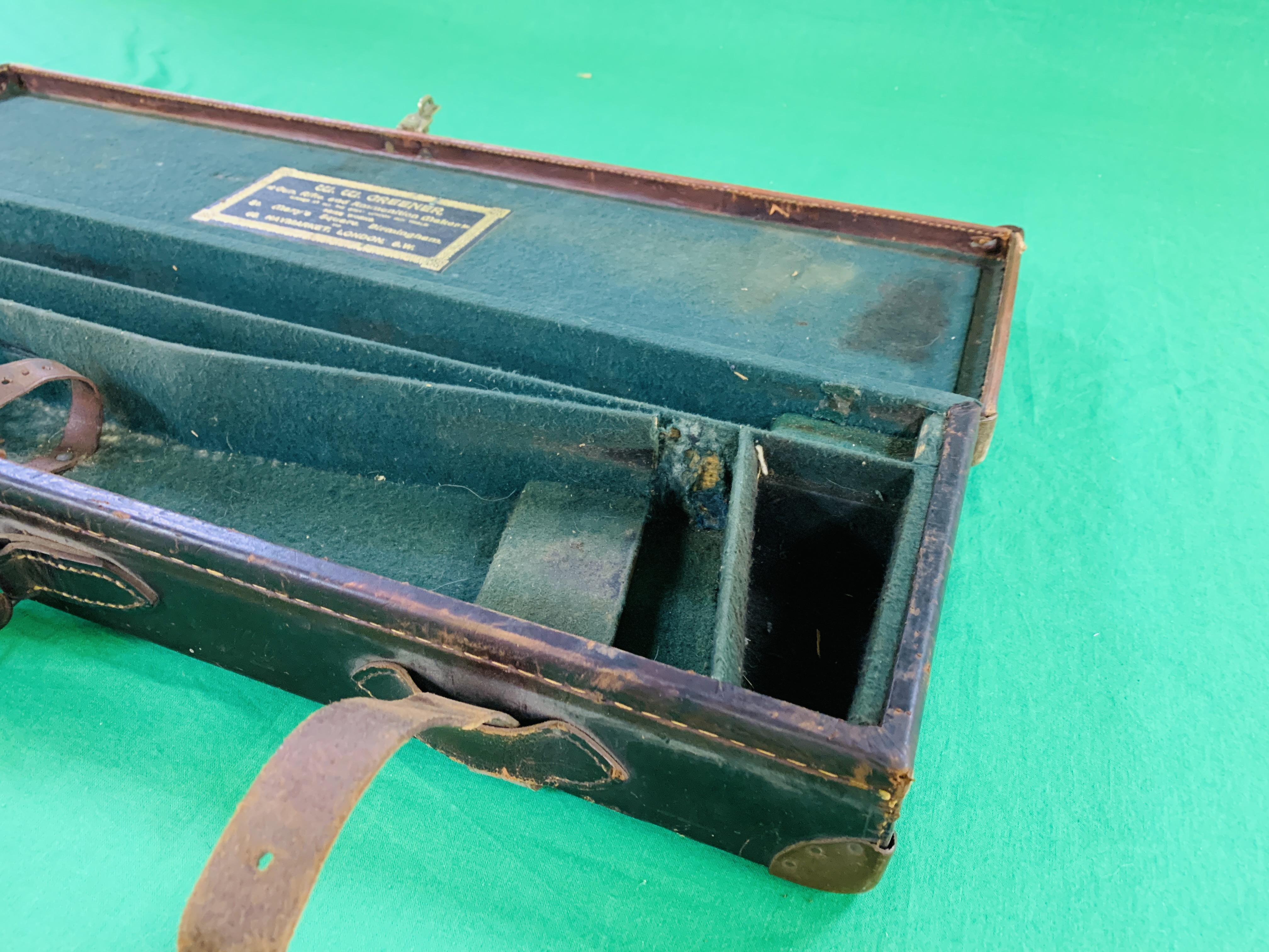 """BEST LEATHER 30"""" SIDE BY SIDE GUN CASE WITH W.W. - Image 5 of 10"""
