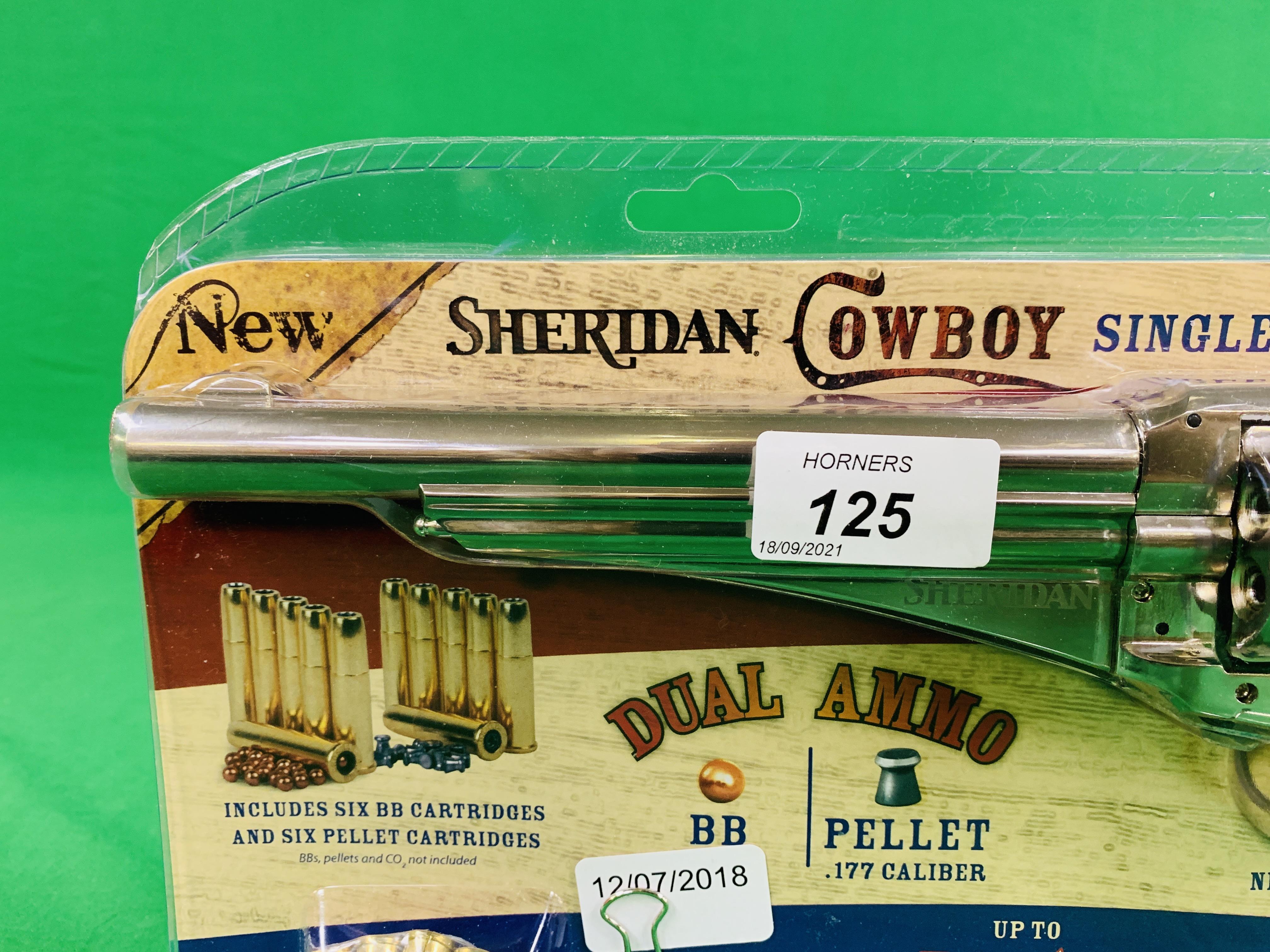 A SHERIDAN COWBOY SINGLE ACTION BB / PELLET REVOLVER . - Image 3 of 6