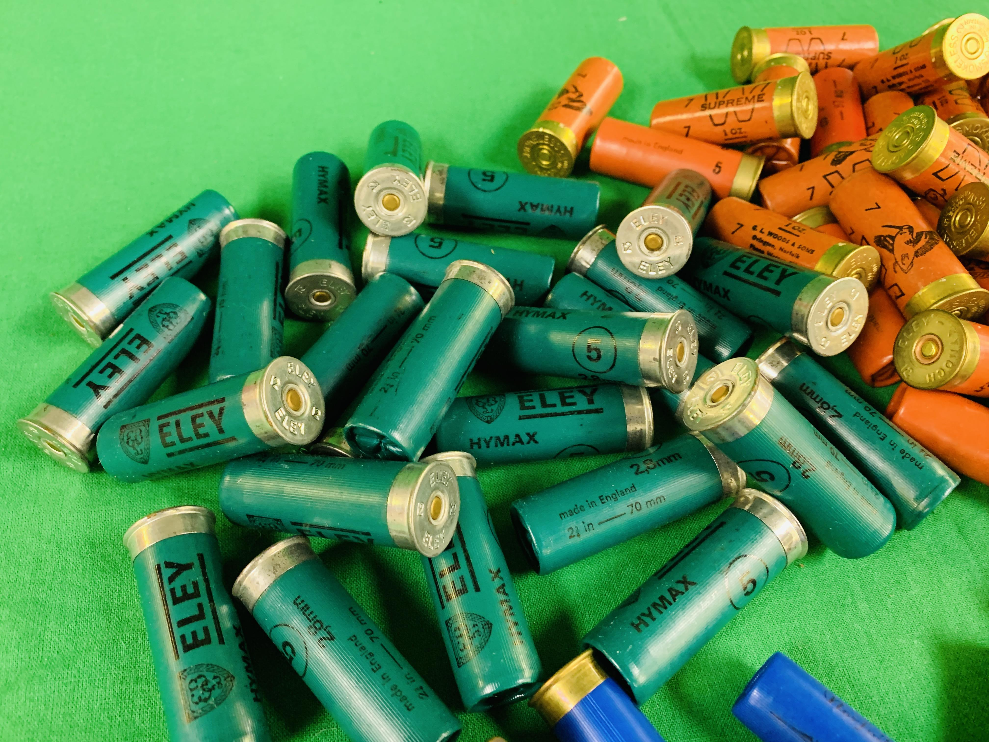 A BOX CONTAINING A COLLECTION OF APPROX 85 MIXED CARTRIDGES TO INCLUDE MAINLY 12G & SOME 16G (ELEY - Image 3 of 7