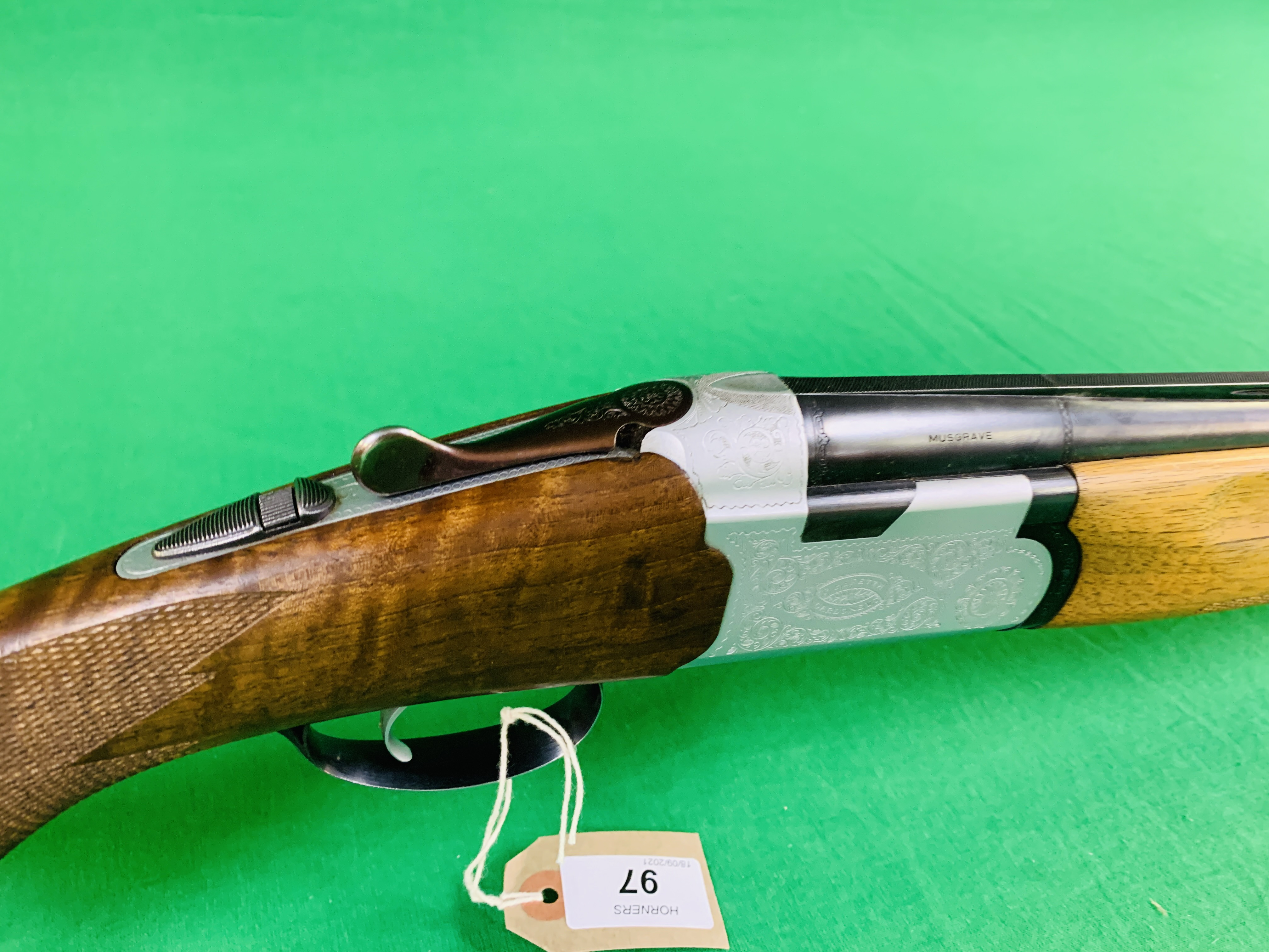 12 BORE BERETTA OVER AND UNDER SHOTGUN # B17388B WITH GUN SLEEVE - (ALL GUNS TO BE INSPECTED AND - Image 2 of 9