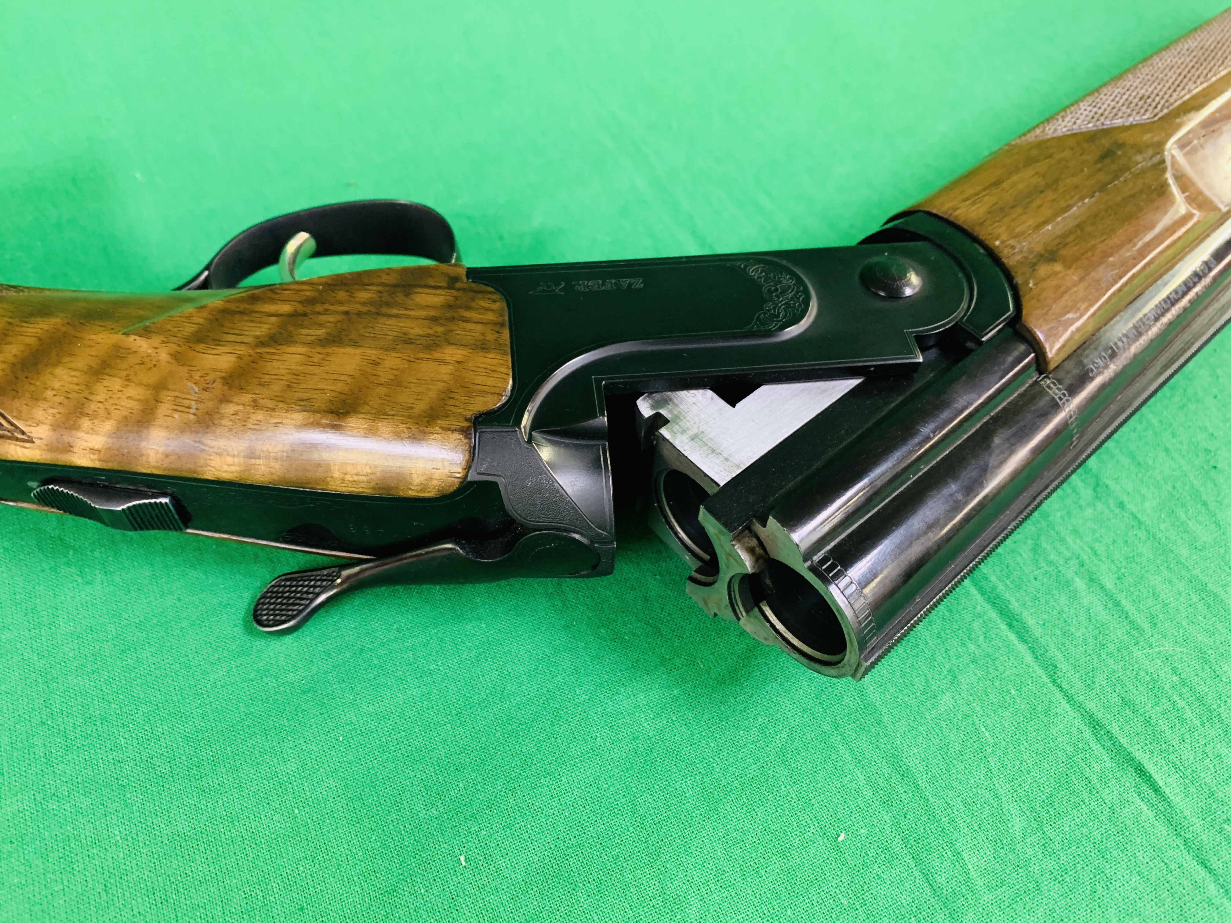 ZAFER MODEL 01612 12 BORE OVER AND UNDER SHOTGUN # 01483, SELECTABLE SINGLE TRIGGER, NON EJECTOR, - Image 8 of 8