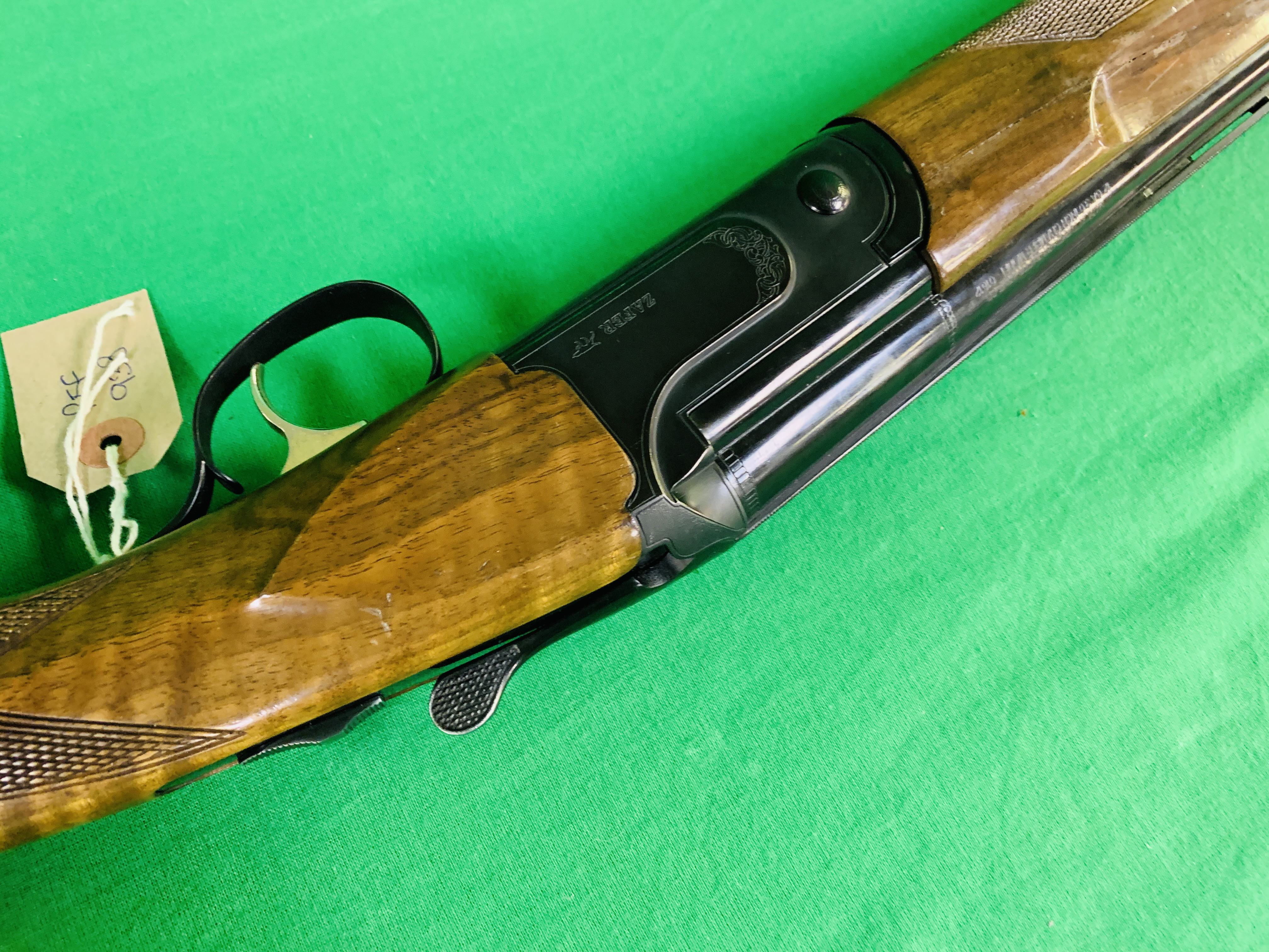 ZAFER MODEL 01612 12 BORE OVER AND UNDER SHOTGUN # 01483, SELECTABLE SINGLE TRIGGER, NON EJECTOR, - Image 7 of 8