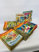 BOX CONTAINING A QUANTITY OF DISNEY MAGAZINES TO INCLUDE 1-55 NOW I KNOW,