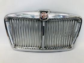 VINTAGE CHROME MG MOTOR VEHICLE RADIATOR GRILL W 70CM,